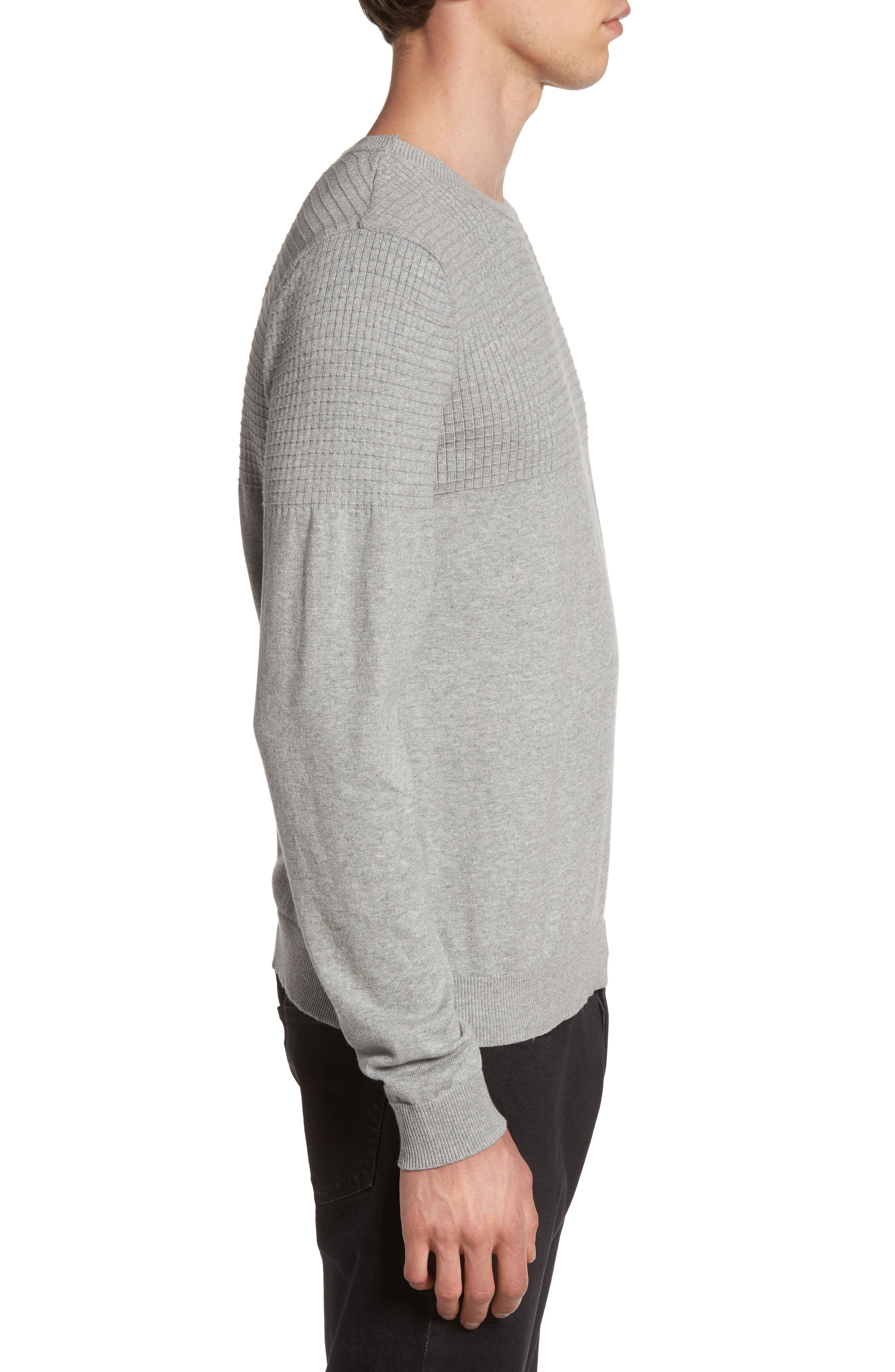 Textured Sweater,                             Alternate thumbnail 4, color,                             Grey