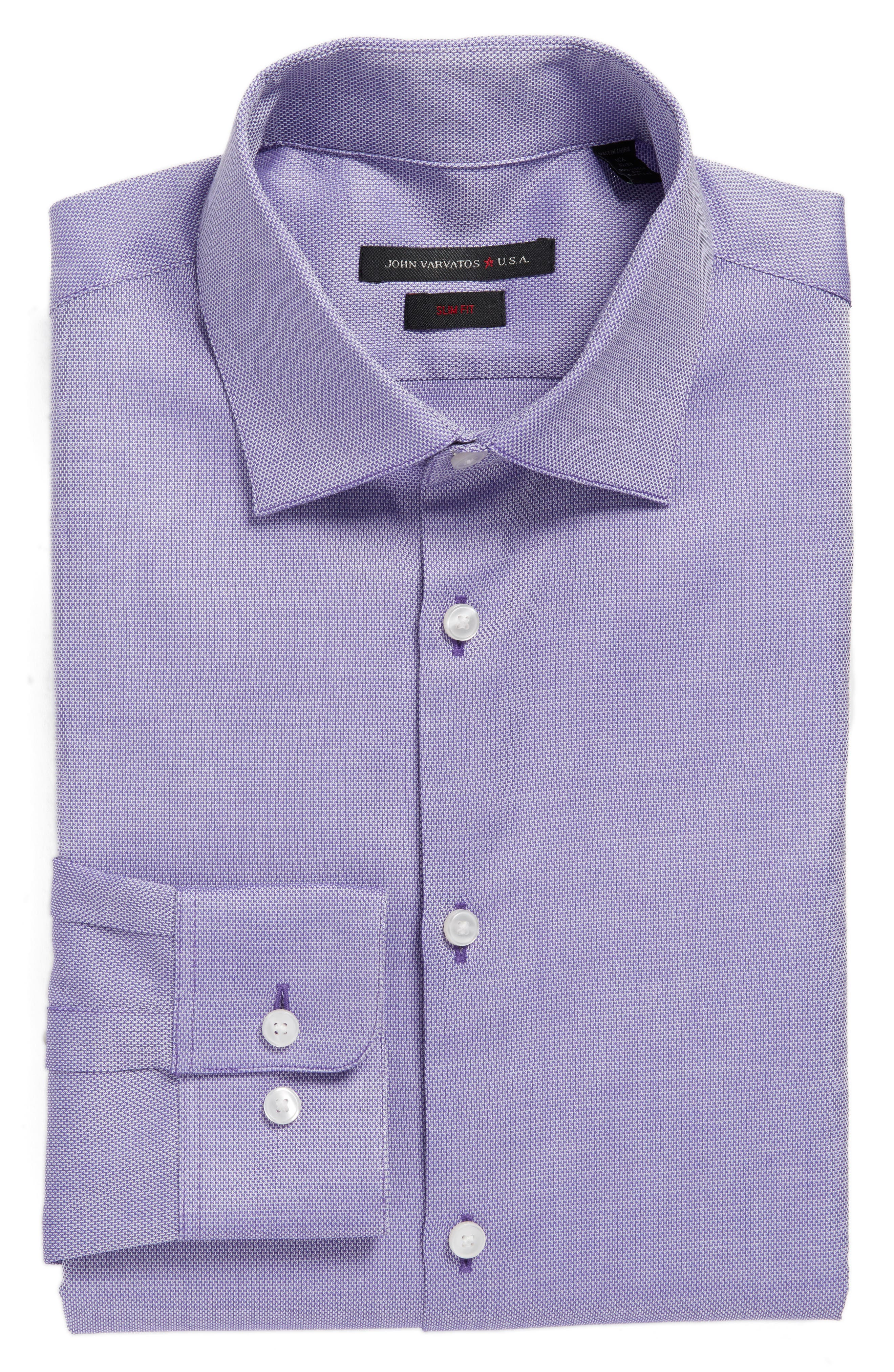 Main Image - John Varvatos Star USA Slim Fit Solid Stretch Dress Shirt