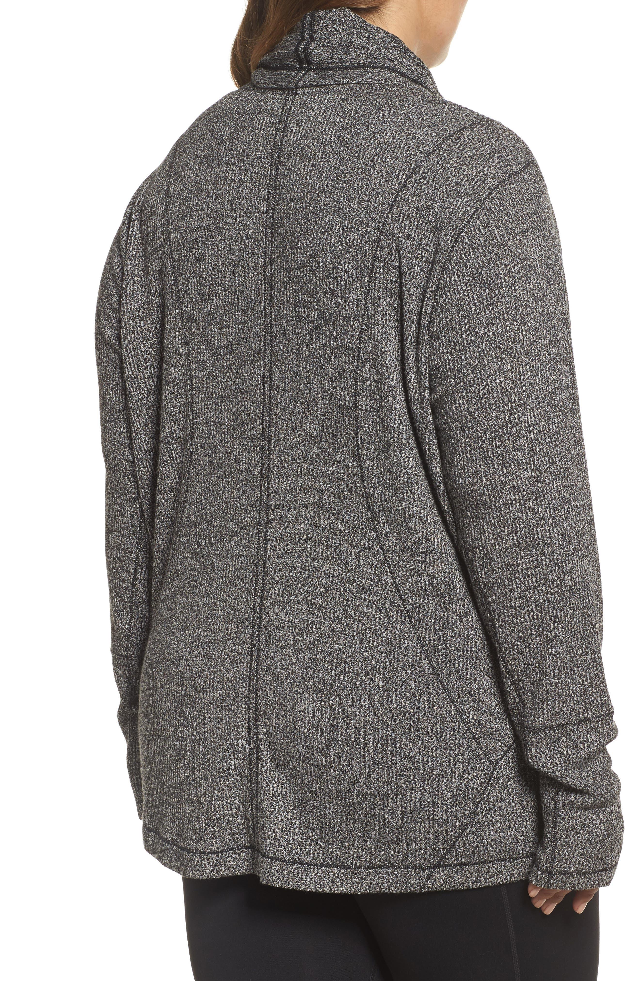 Alternate Image 2  - Zella Enlighten Me Ribbed Cardigan (Plus Size)