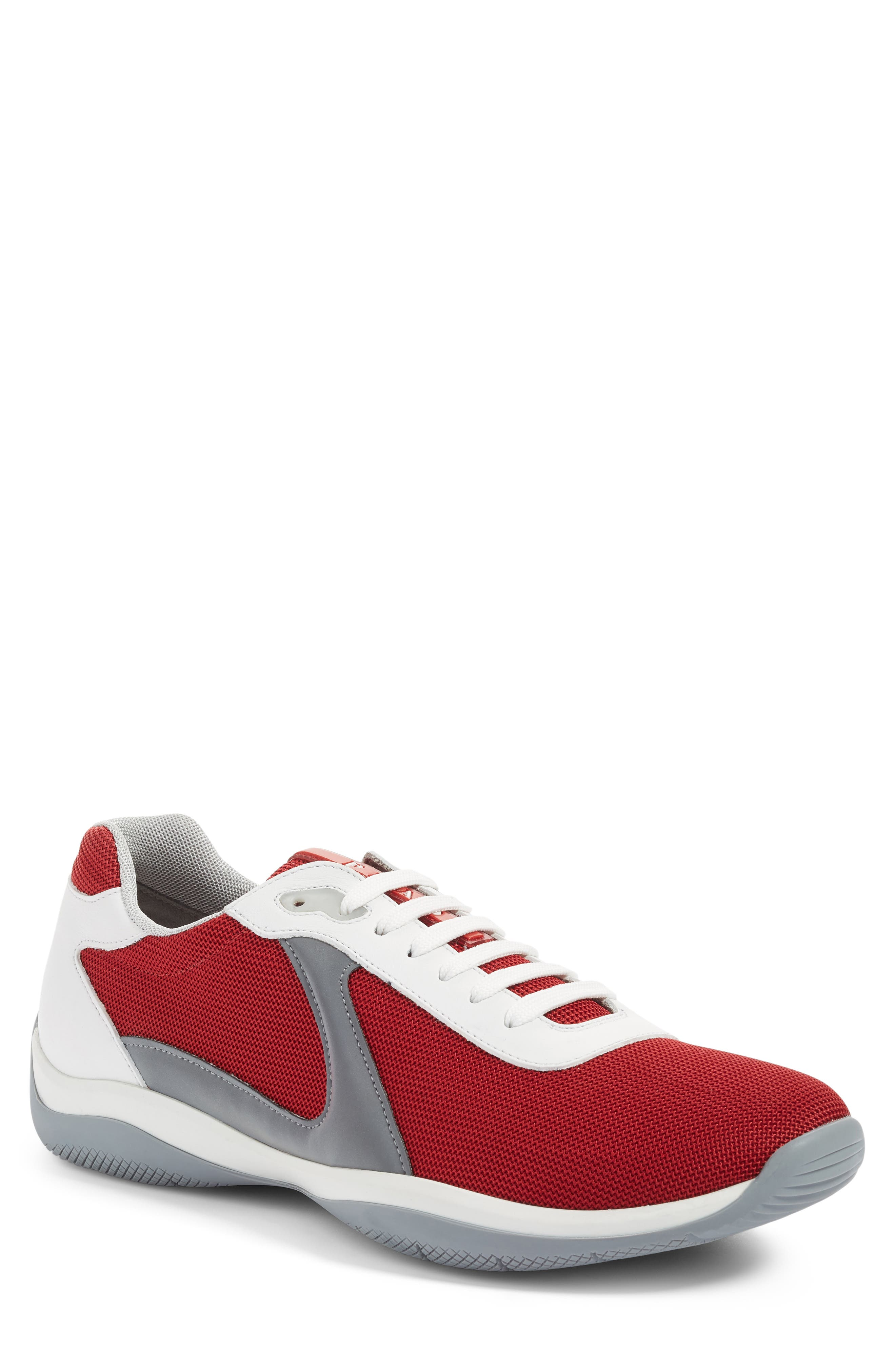 Sneaker,                             Main thumbnail 1, color,                             Rosso/Rosso