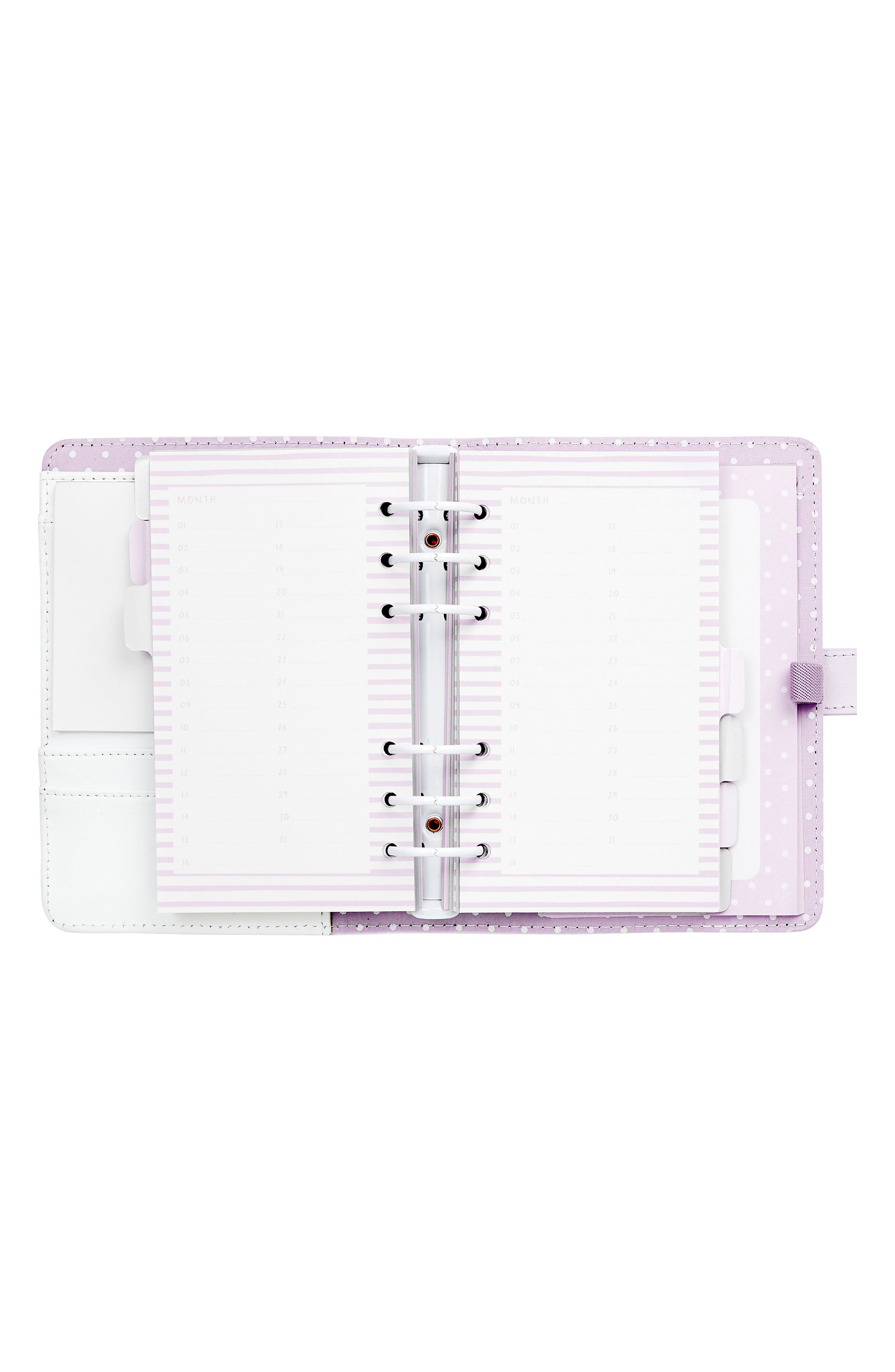 Medium Leather Planner,                             Alternate thumbnail 3, color,                             Soft Lilac