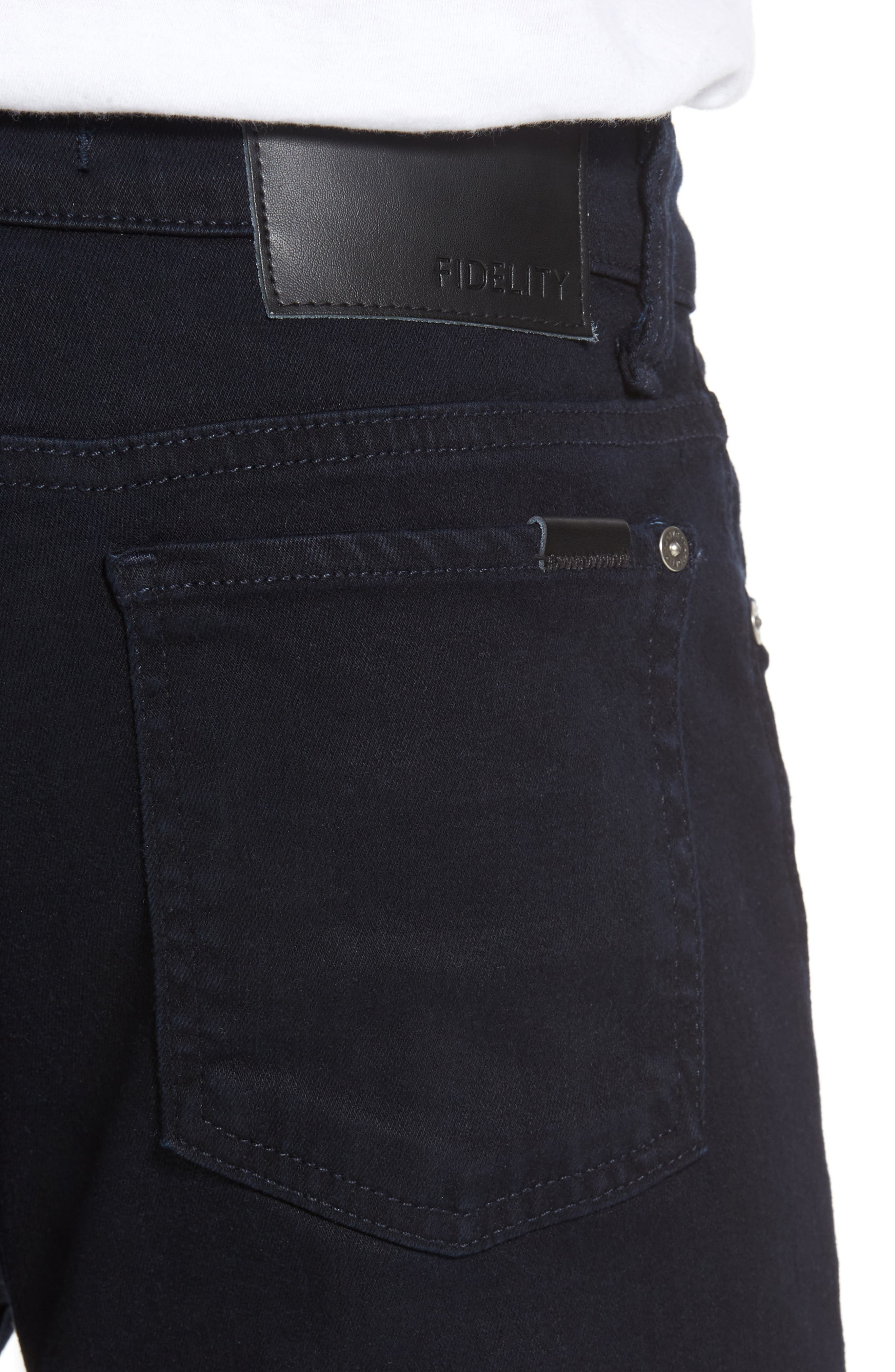 Alternate Image 4  - Fidelity Denim Torino Slim Fit Jeans (Everblue)