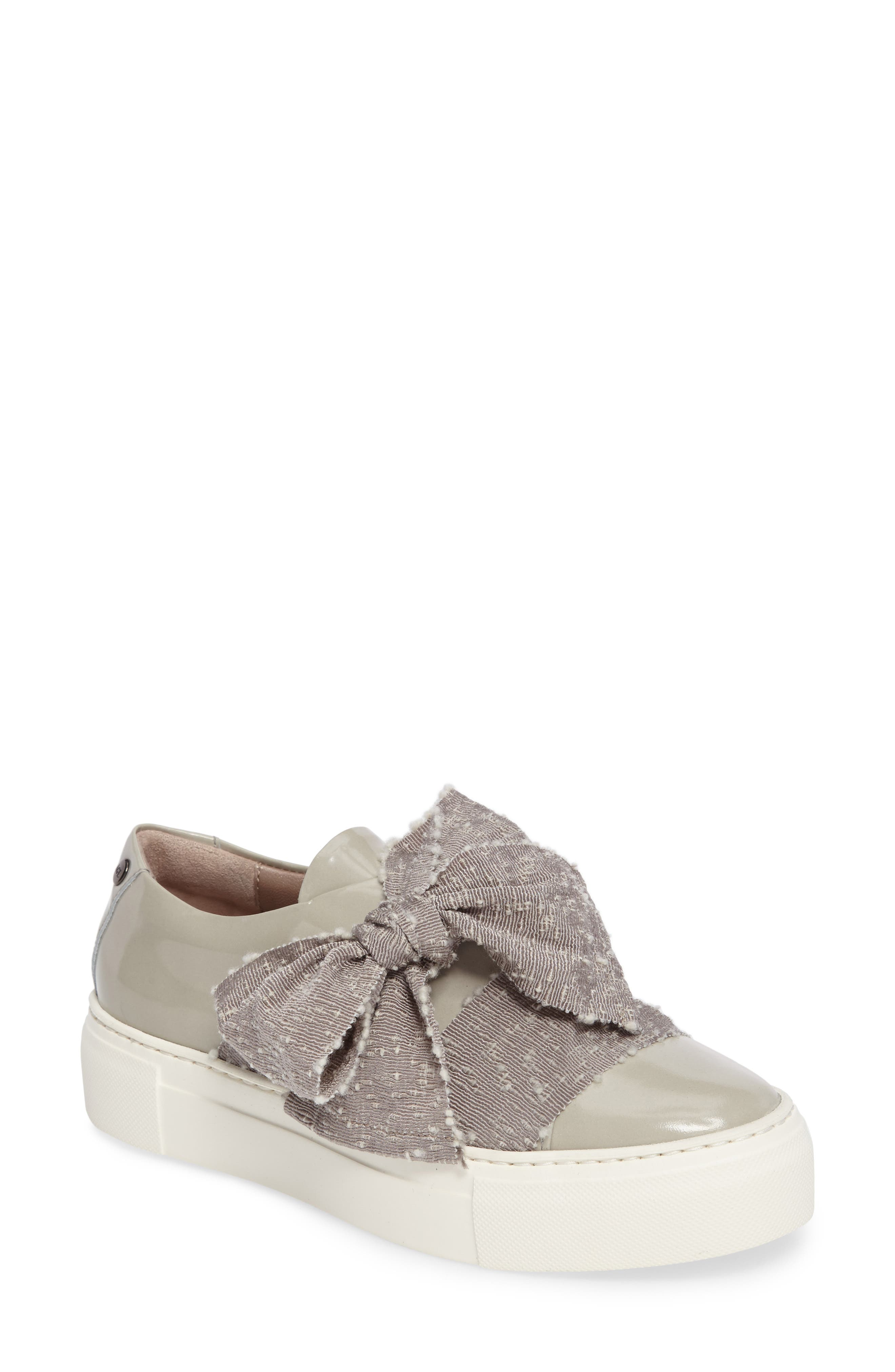 Bow Platform Sneaker,                             Main thumbnail 1, color,                             Marble Leather