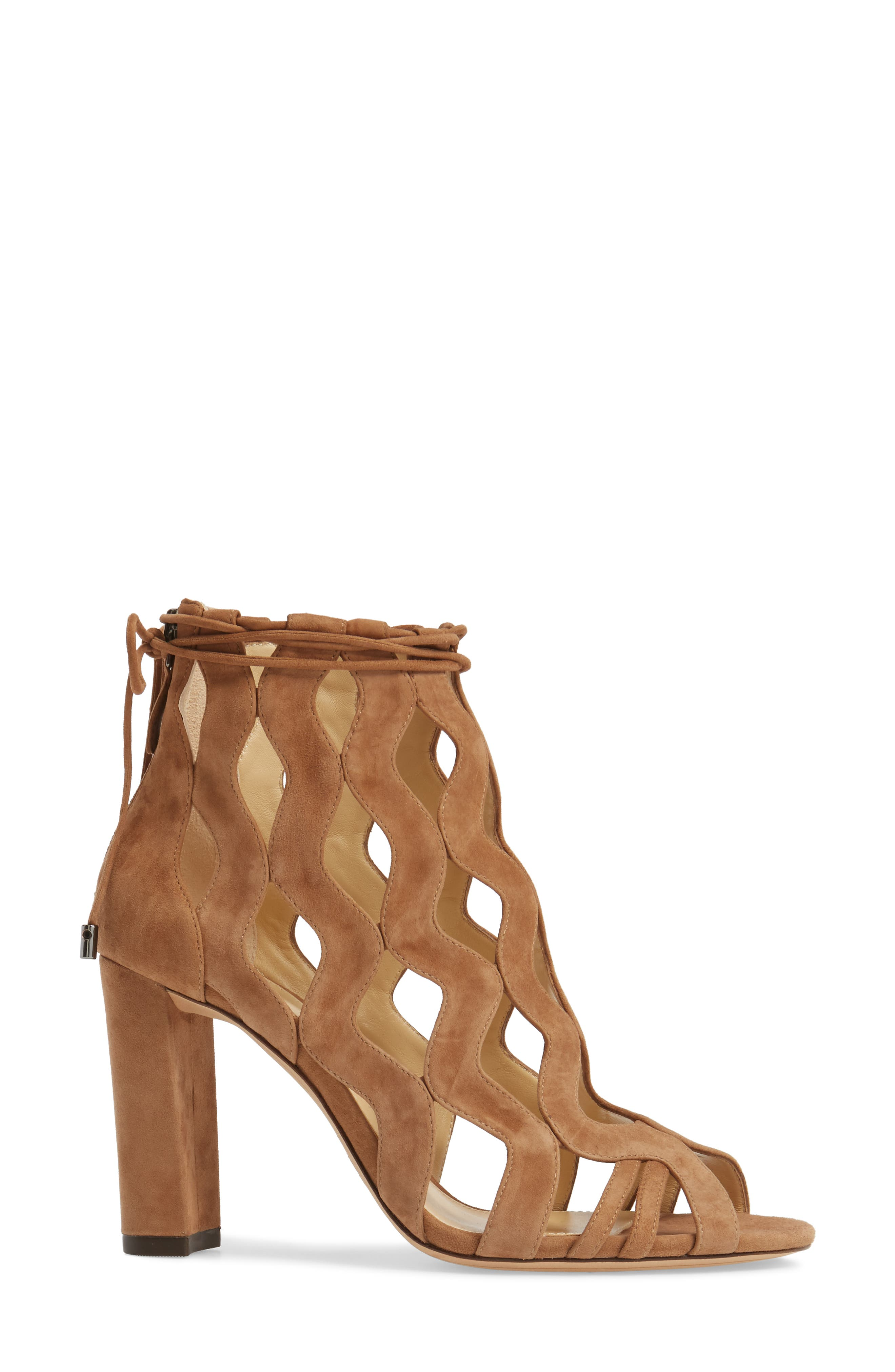 Loretta Cage Bootie,                             Alternate thumbnail 3, color,                             Light Beige