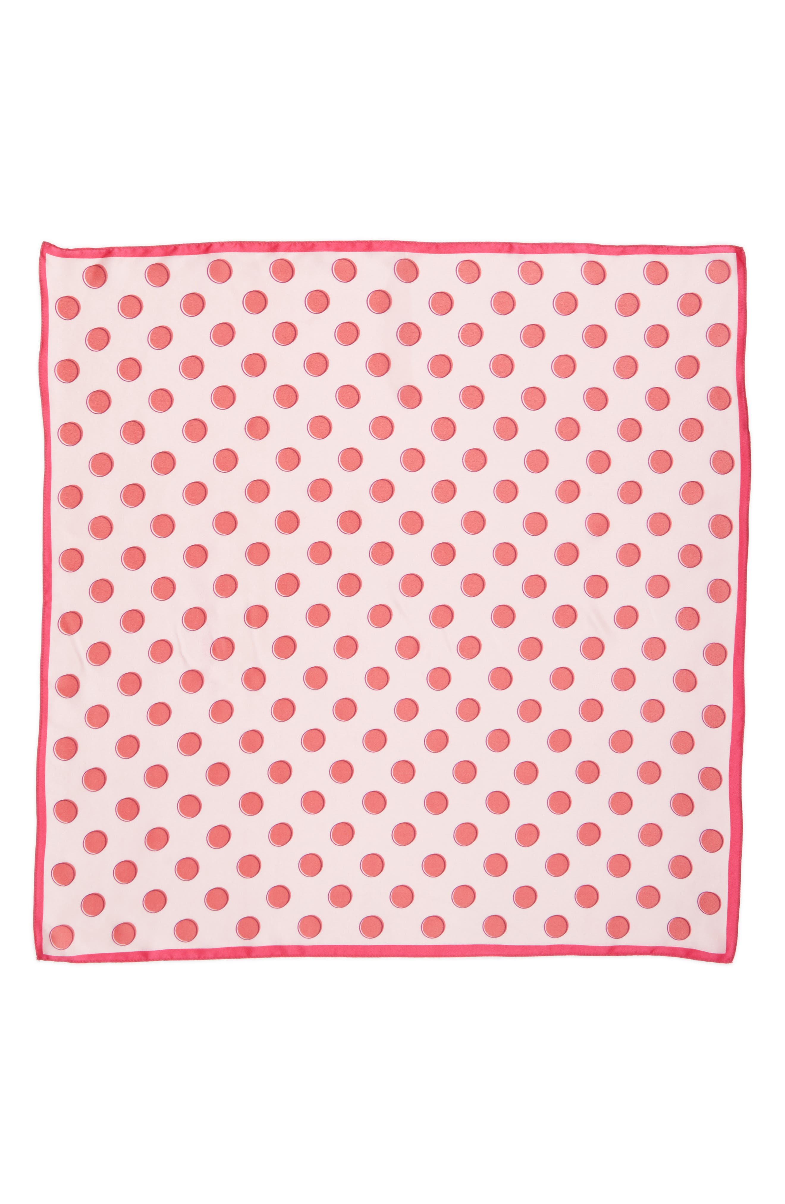 Alternate Image 2  - Halogen® Shadow Dot Silk Square Scarf