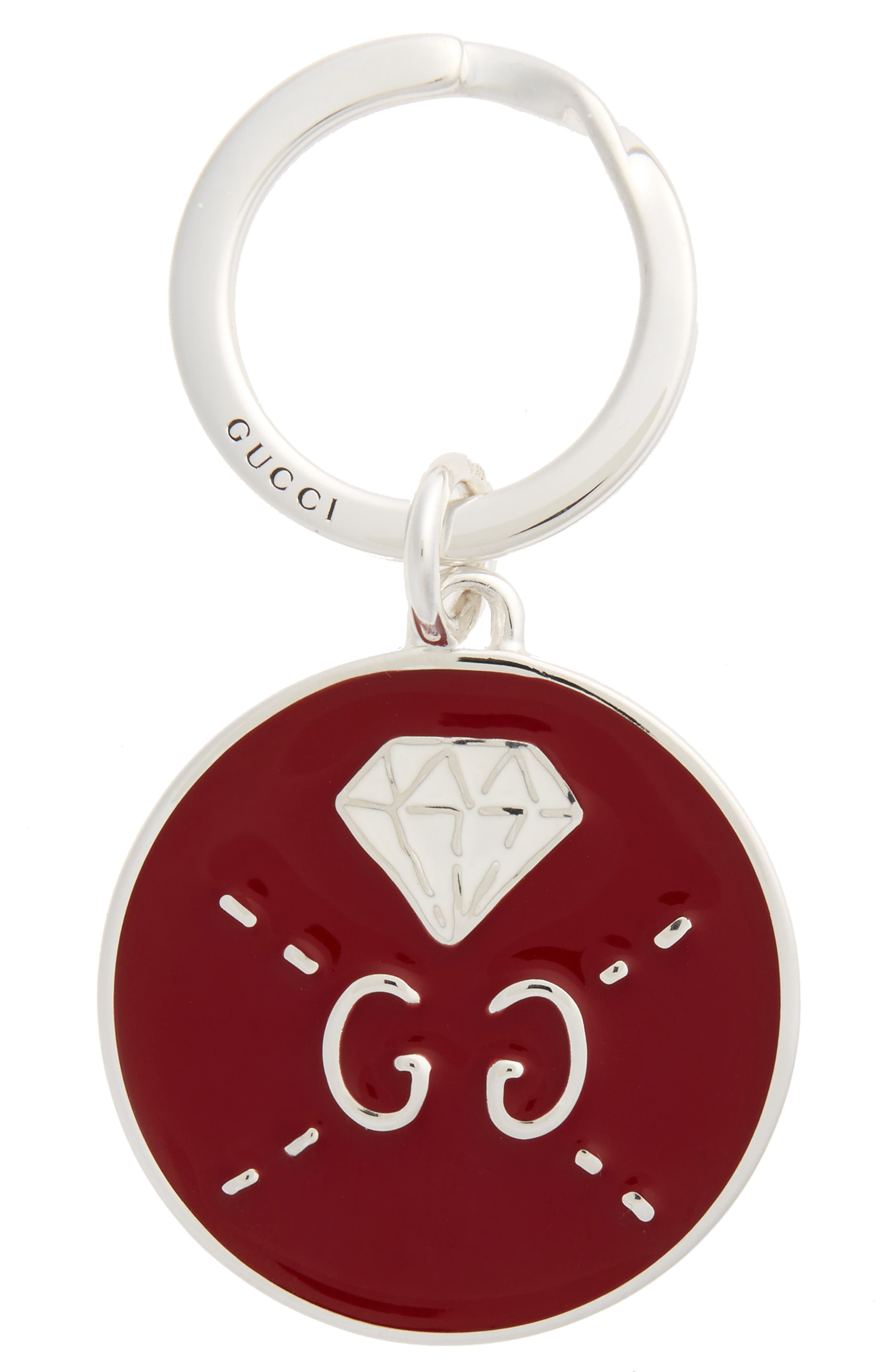 Ghost Diamond Key Ring,                             Main thumbnail 1, color,                             Red