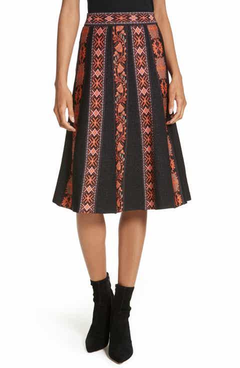 M Missoni Ribbon Jacquard Skirt Online Cheap