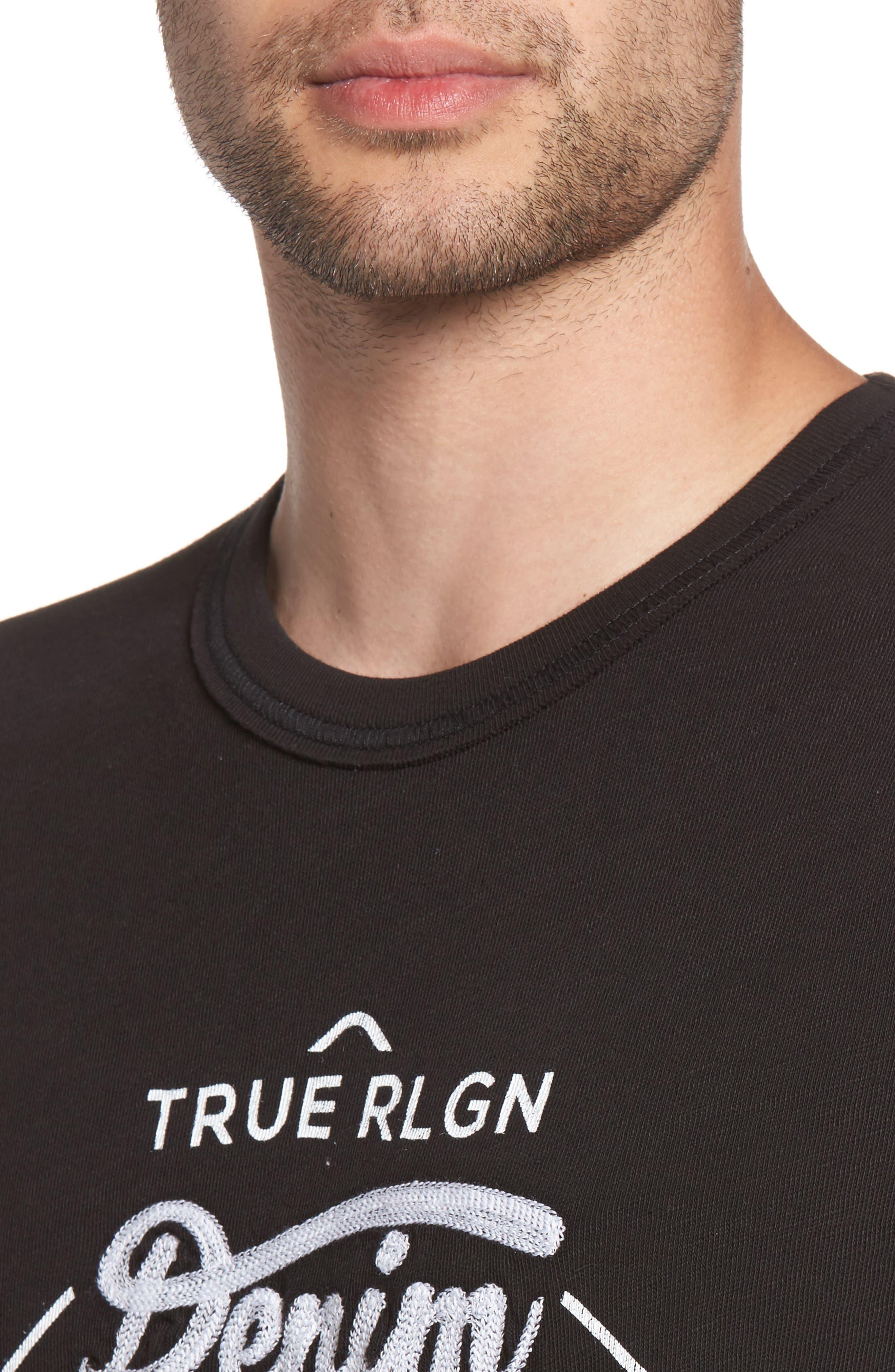 Denim Goods T-Shirt,                             Alternate thumbnail 4, color,                             Black