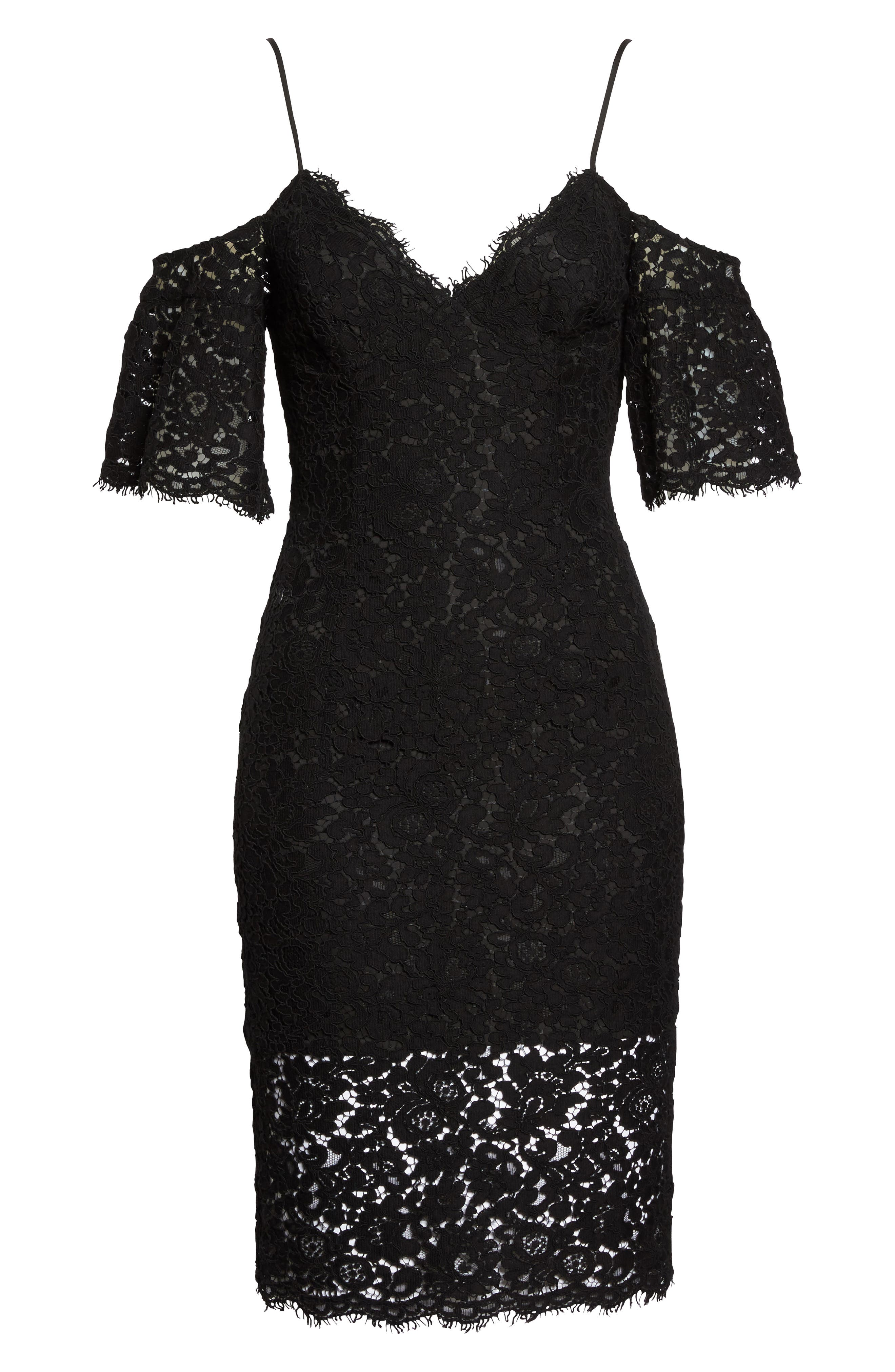 Alternate Image 6  - Bardot Karlie Cold Shoulder Lace Dress