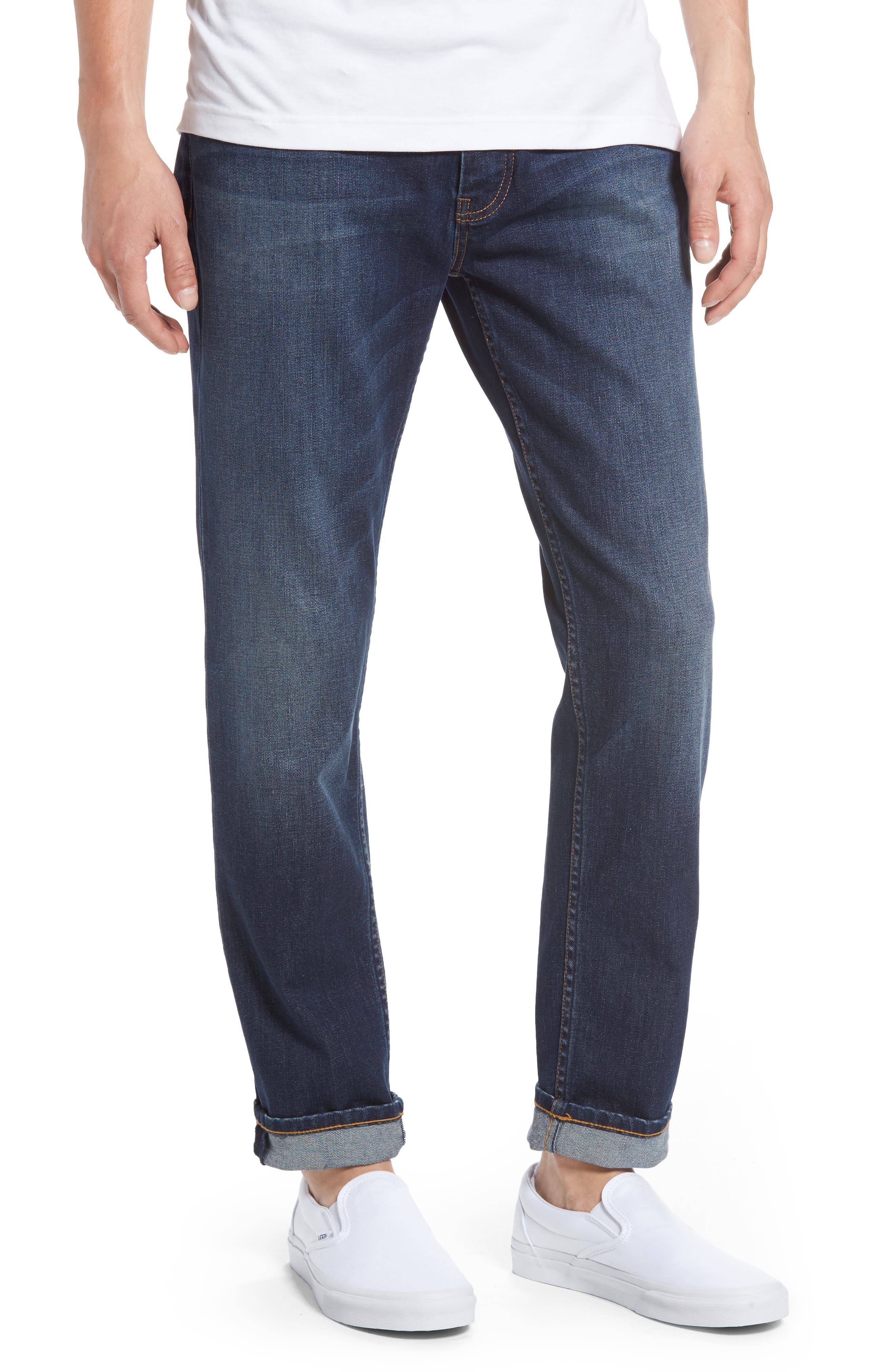 Stretch Skinny Fit Jeans,                             Main thumbnail 1, color,                             Indigo
