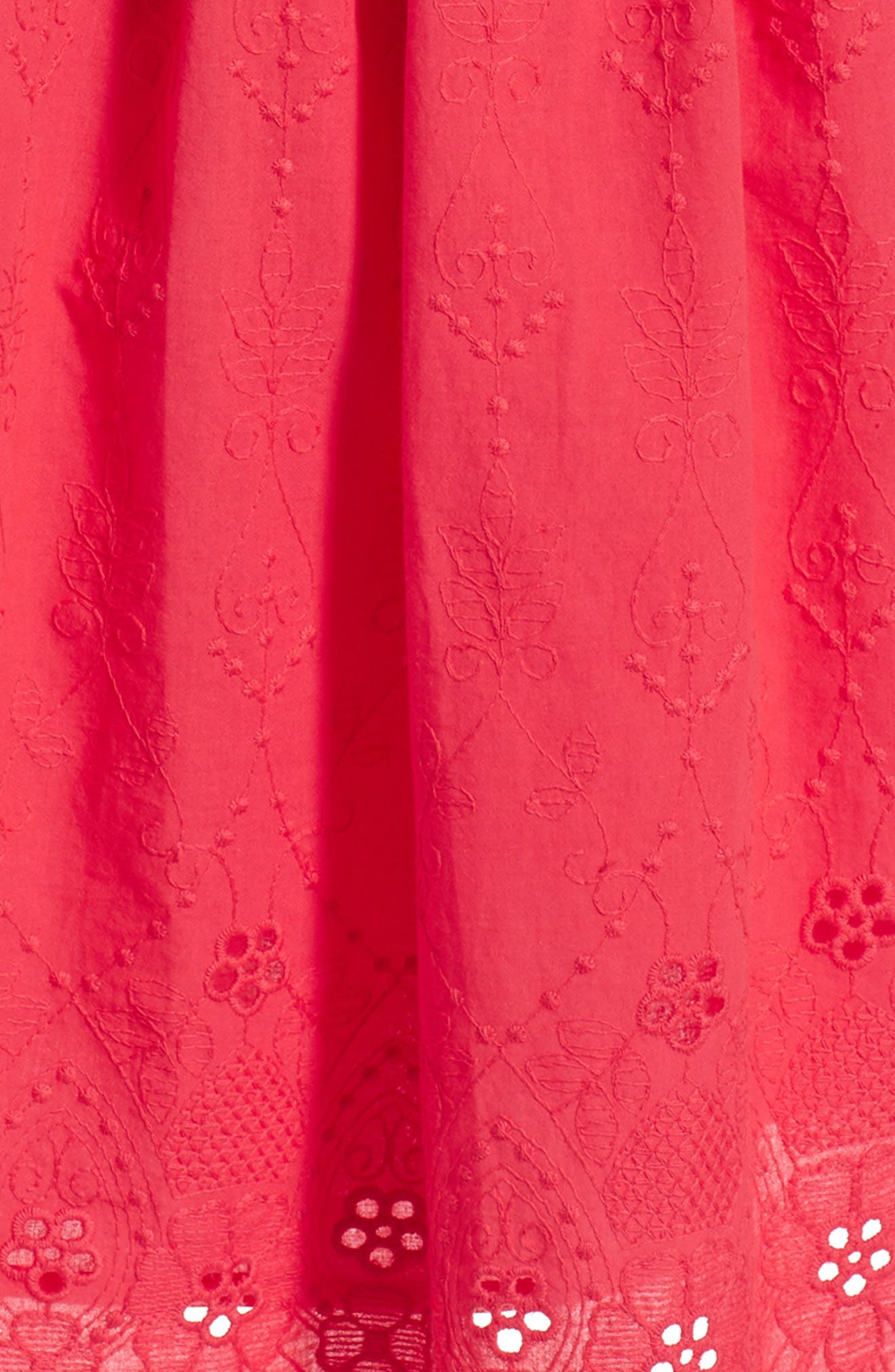 Embroidered Dress,                             Alternate thumbnail 3, color,                             Pink Paradise