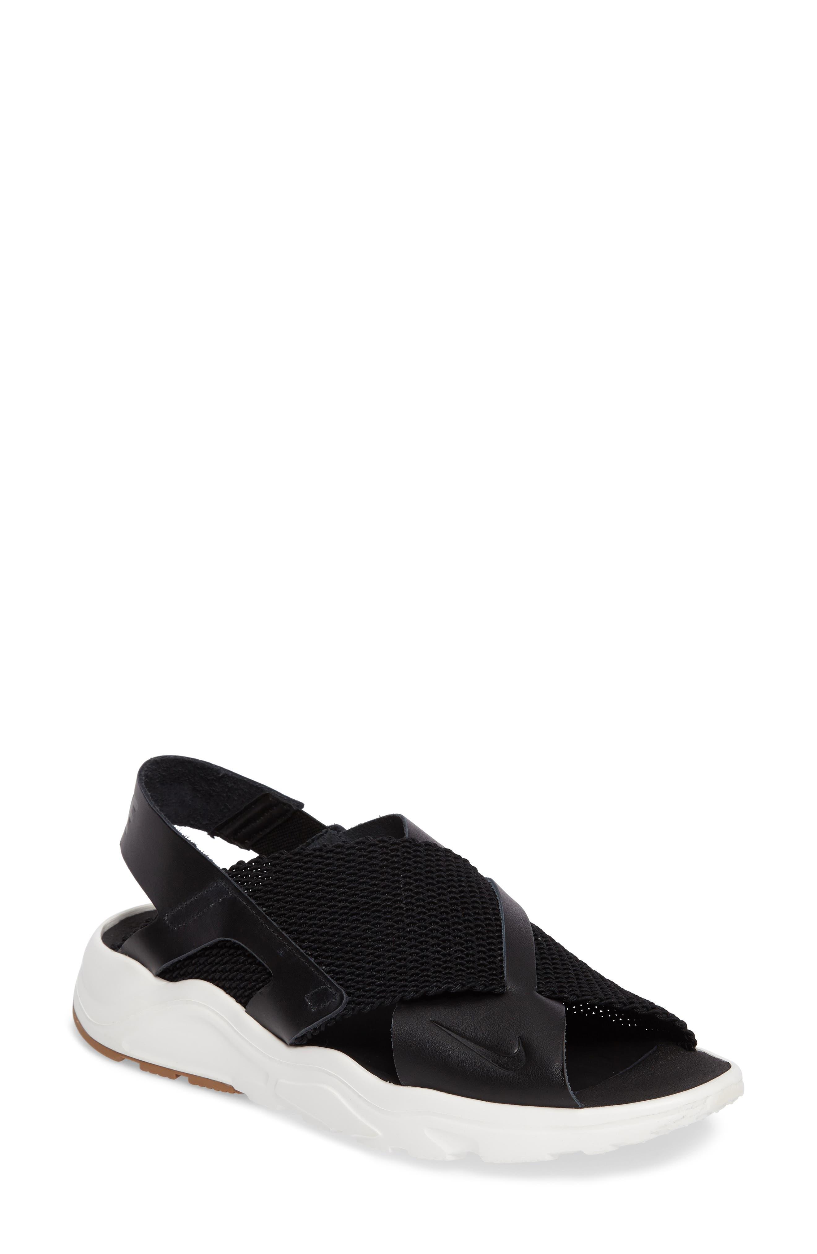 Air Huarache Ultra Sport Sandal,                         Main,                         color, Black/ Black/ Sail/ Gum Brown