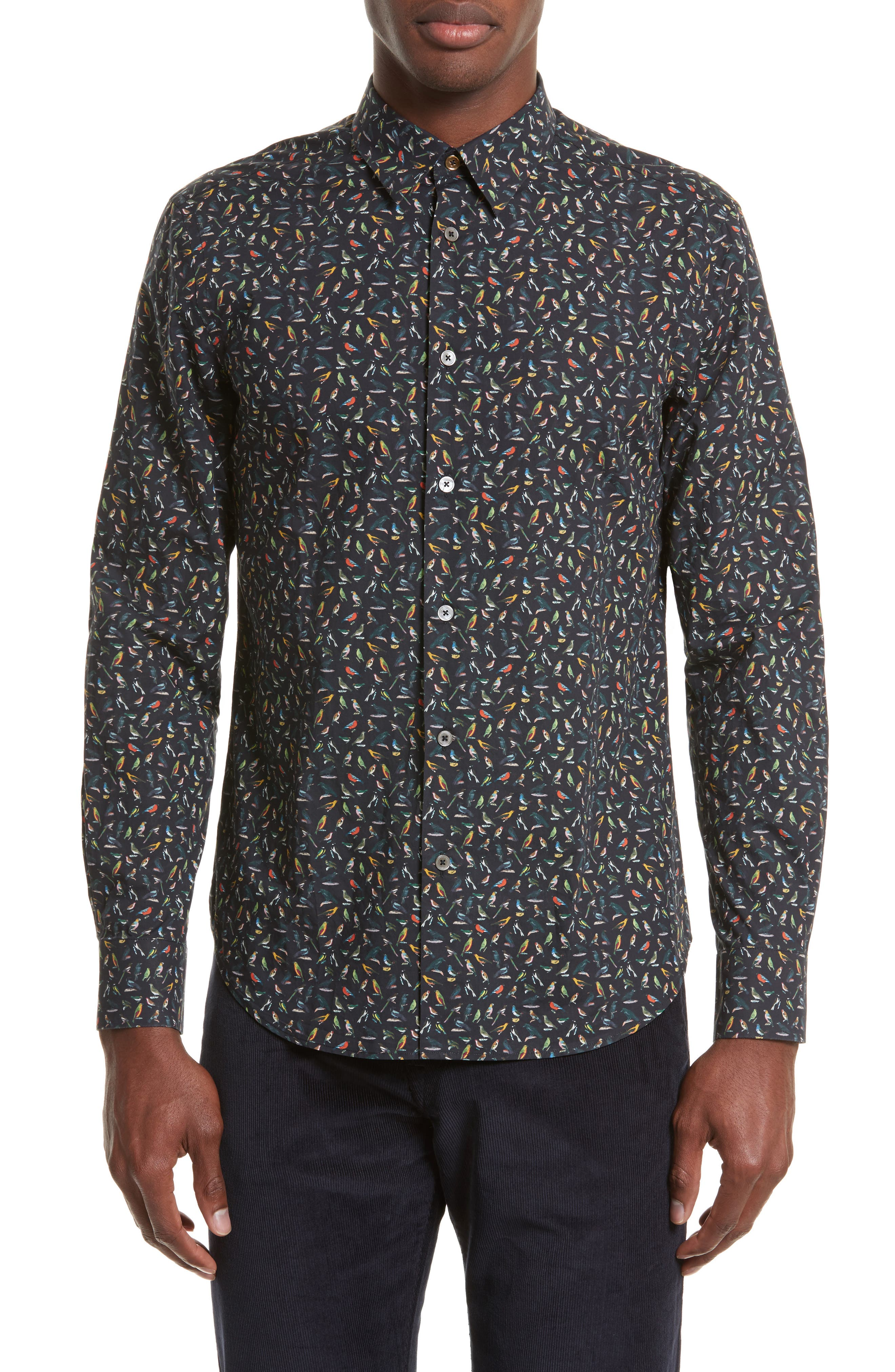 PS Paul Smith Bird Print Sport Shirt
