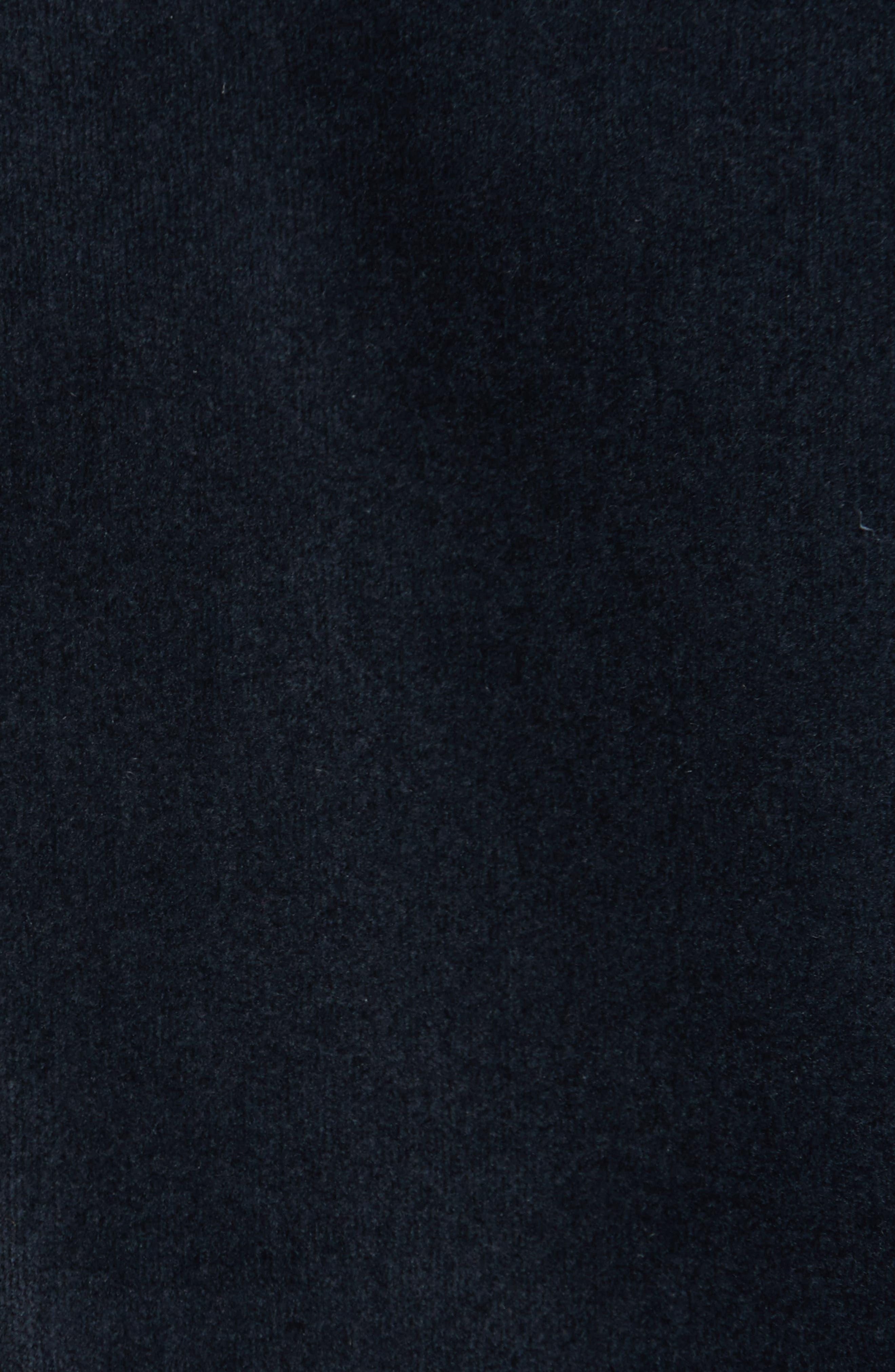 Velvet Sweatshirt,                             Alternate thumbnail 5, color,                             Navy