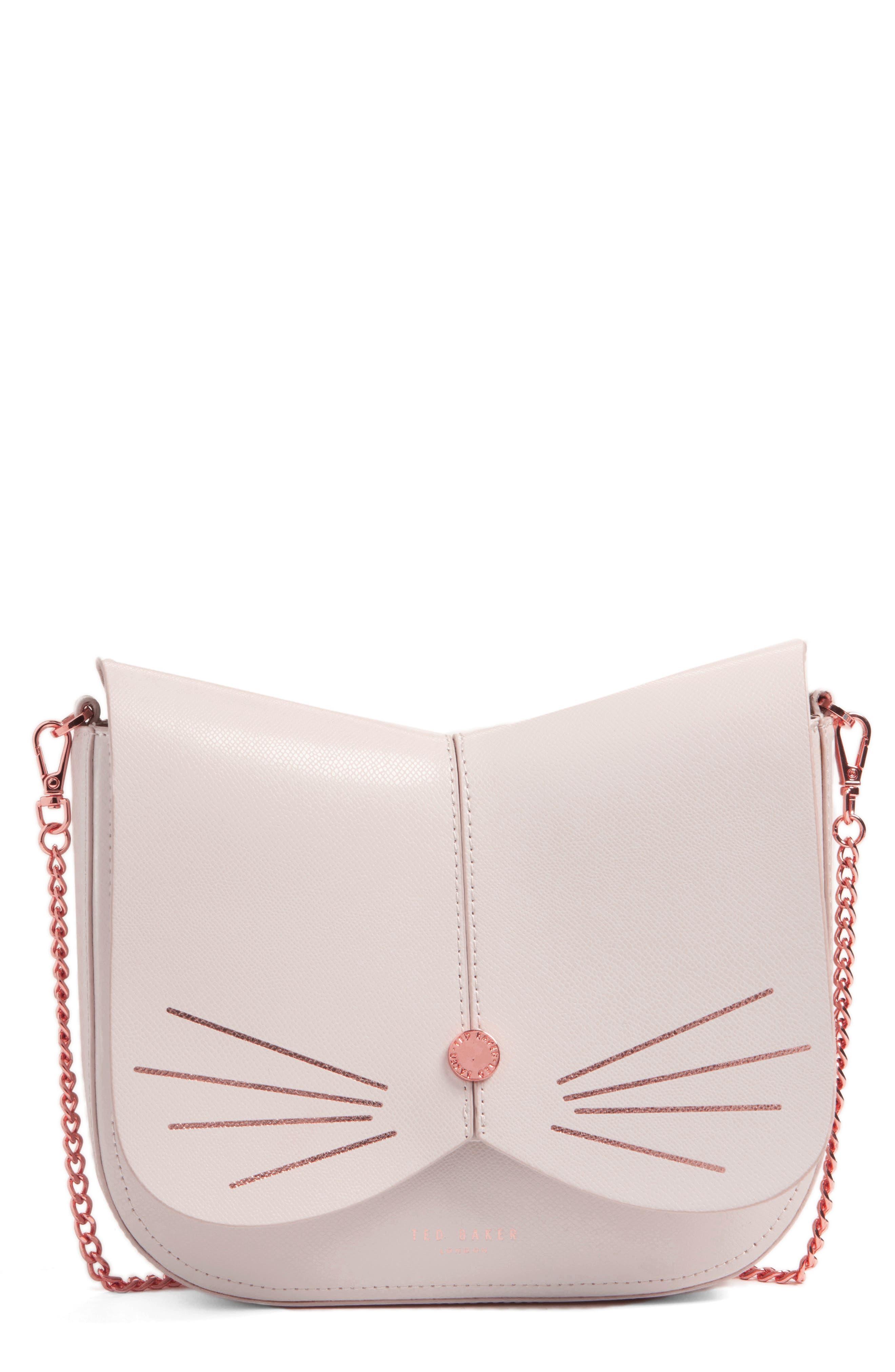 Main Image - Ted Baker London Cat Leather Crossbody Bag