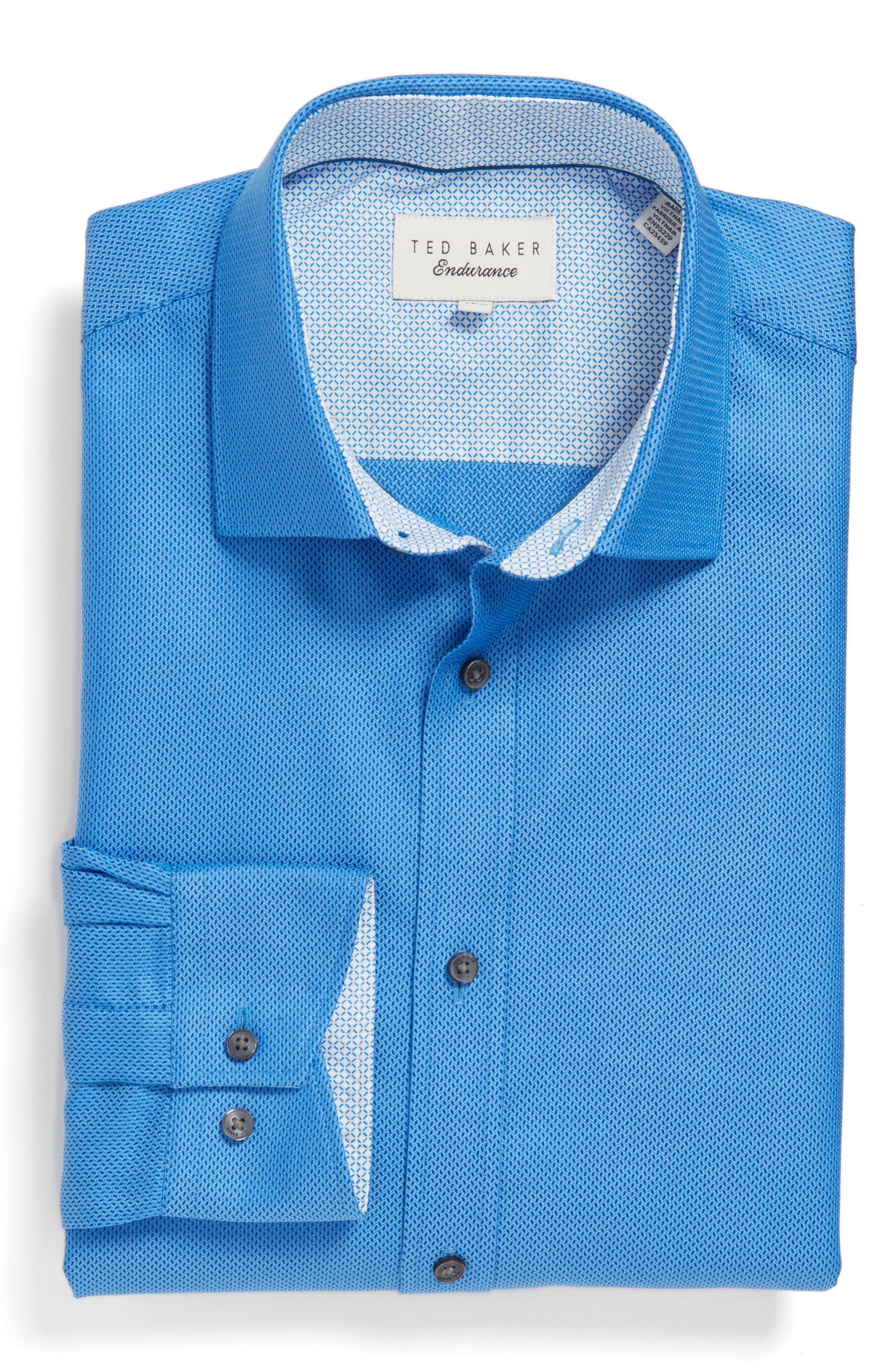 Alternate Image 4  - Ted Baker London Endurance Trim Fit Geometric Dress Shirt