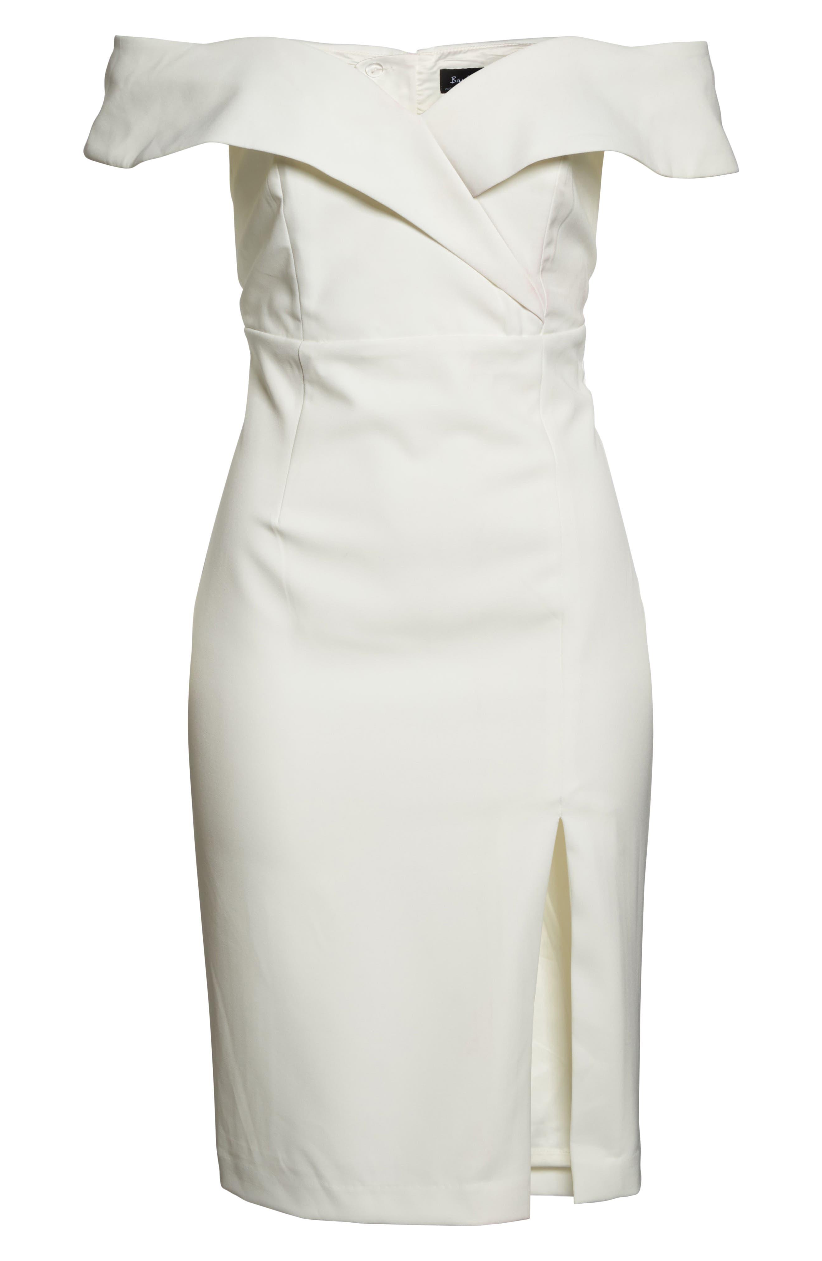 Bella Midi Dress,                             Alternate thumbnail 6, color,                             Ivory