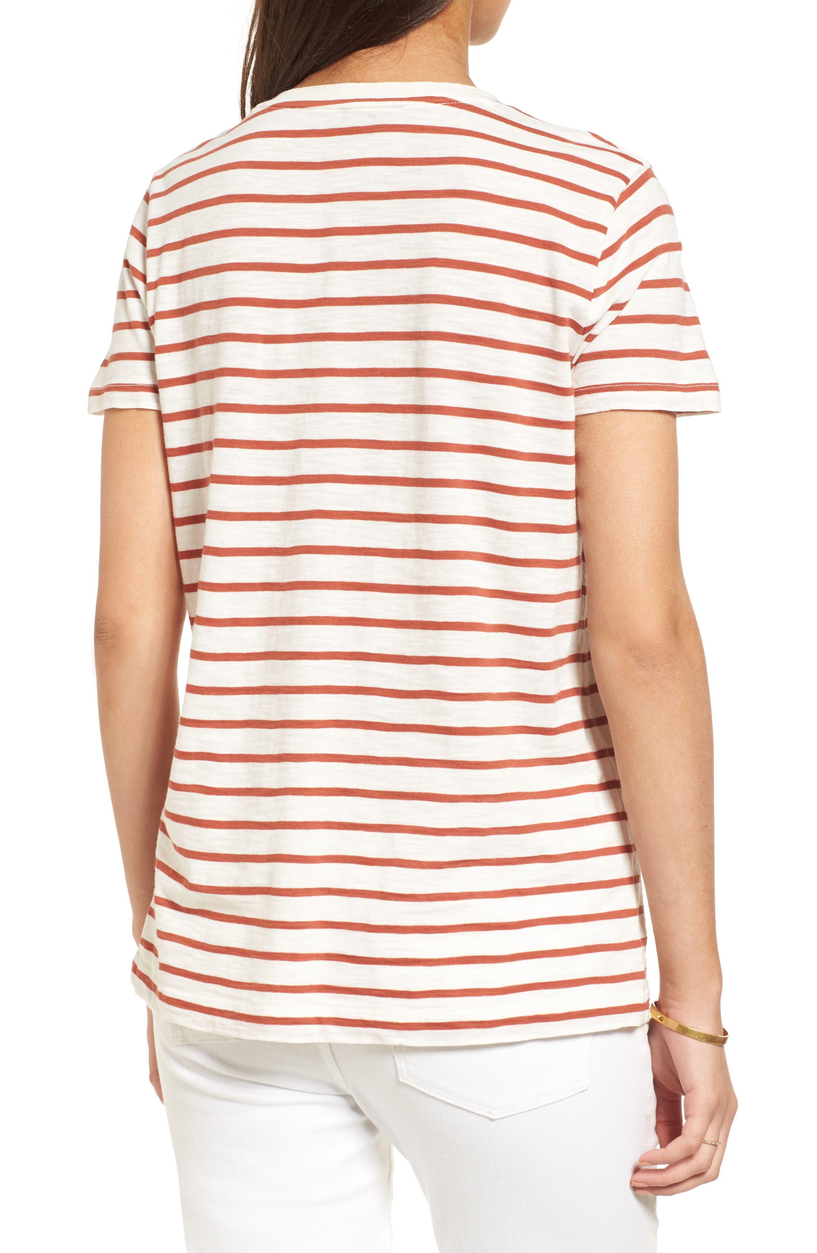 Alternate Image 2  - Madewell Whisper Cotton Stripe V-Neck Tee