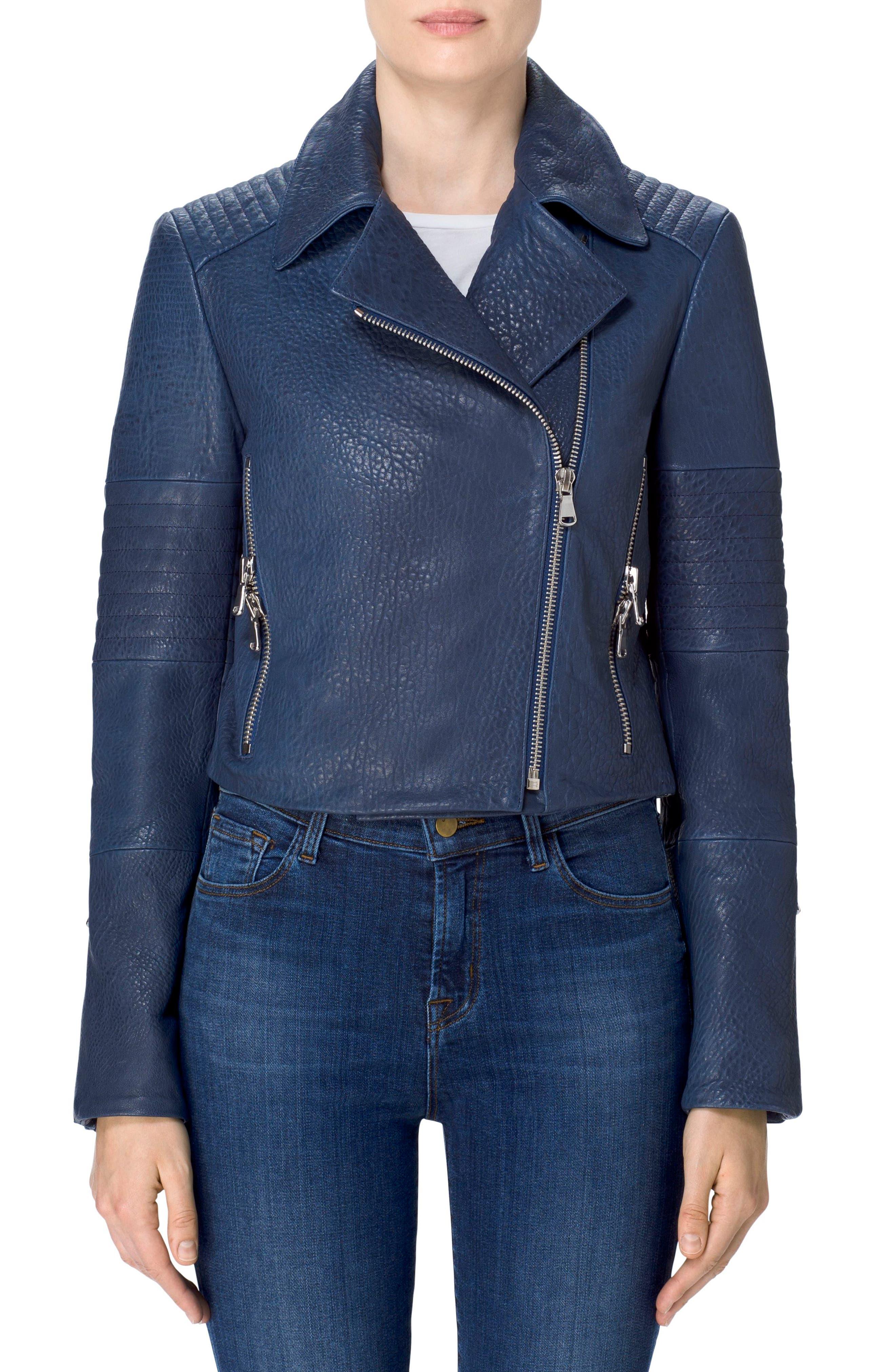 Alternate Image 5  - J Brand Aiah Leather Moto Jacket