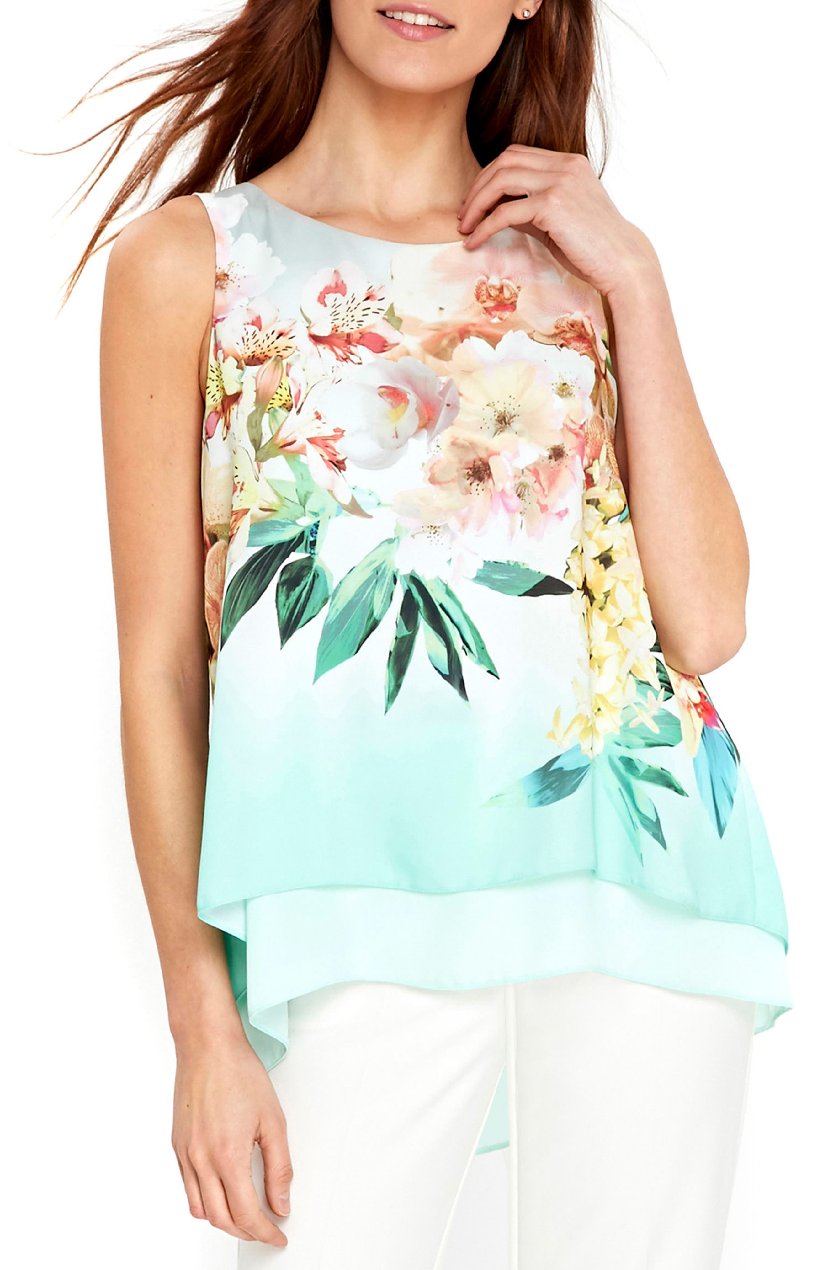 Wallis Mint Blossom Double Layer Shell