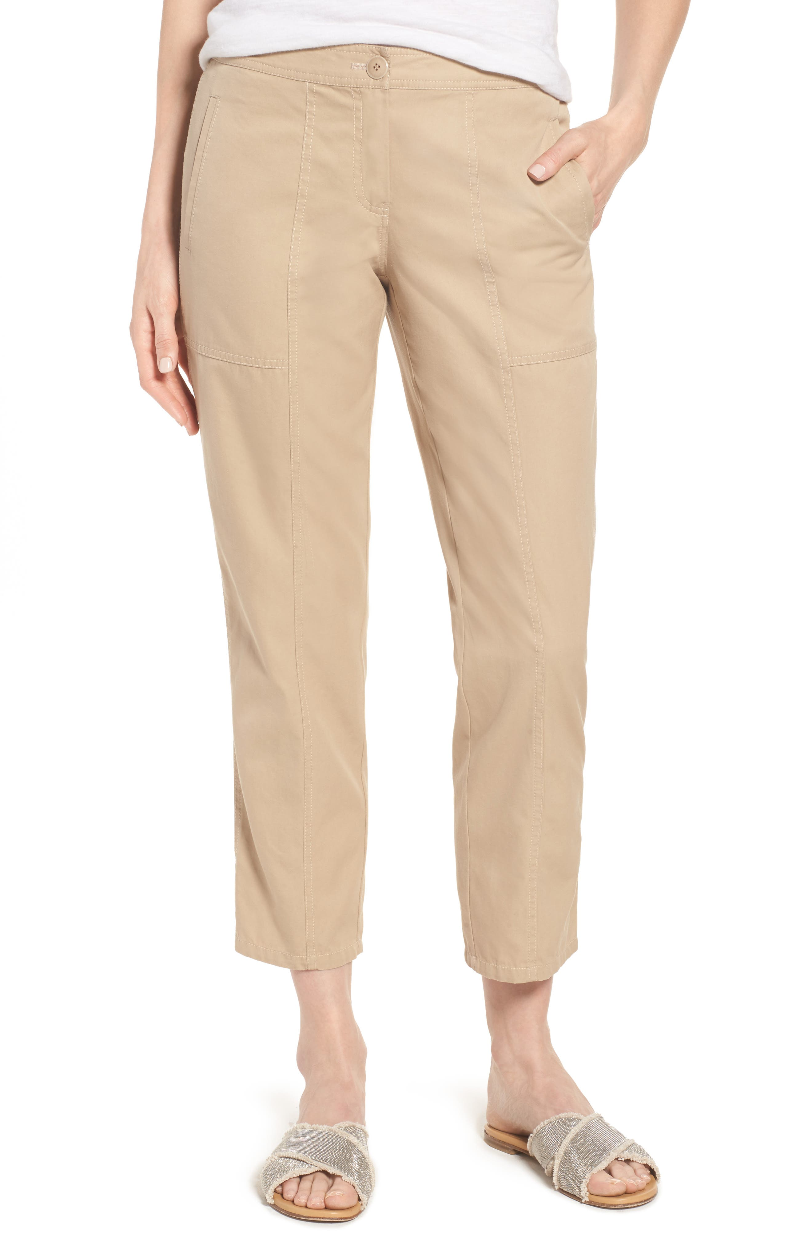 Nordstrom Signature Wide Leg Crop Pants