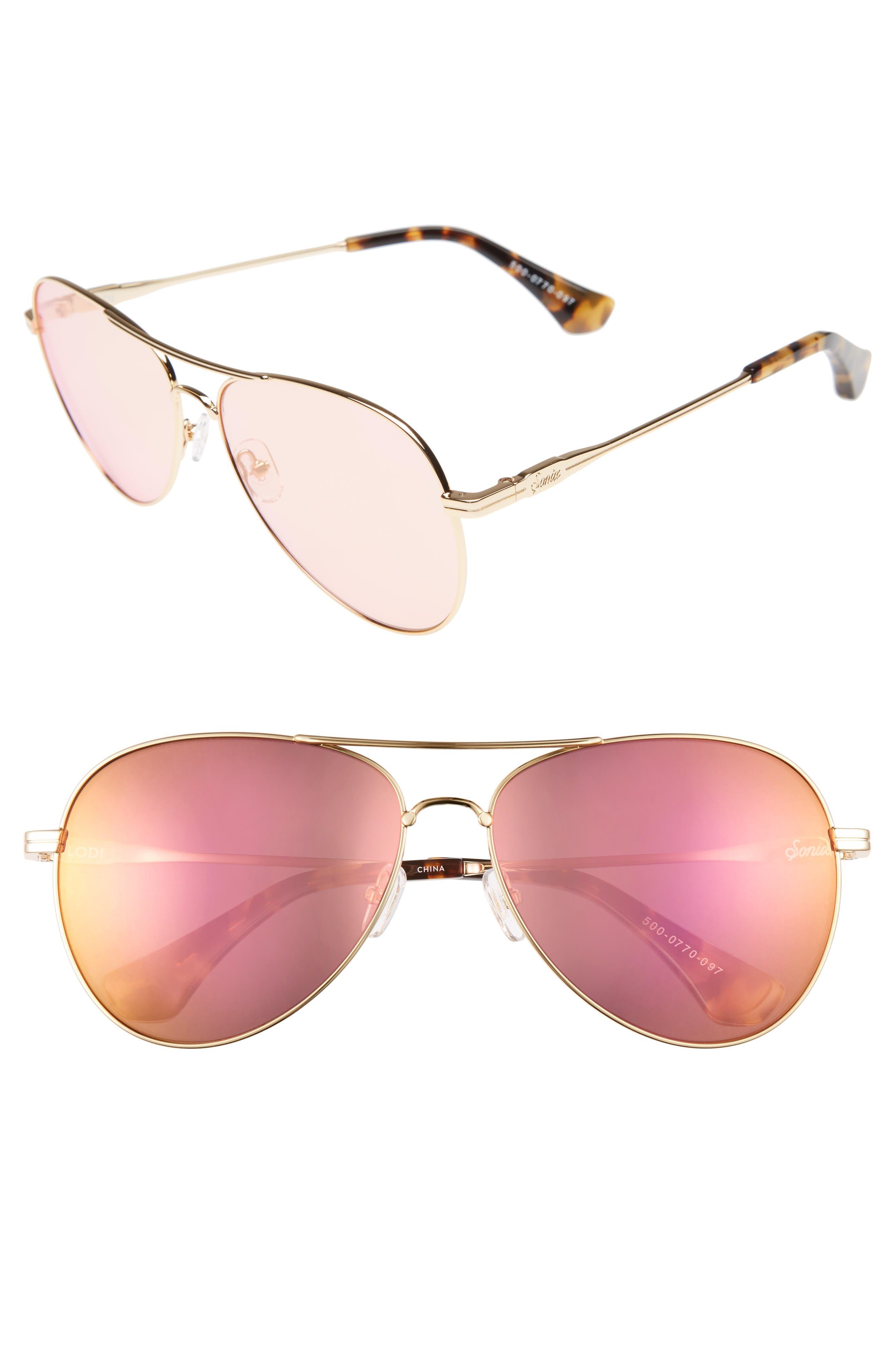 Main Image - Sonix Lodi 61mm Mirrored Aviator Sunglasses