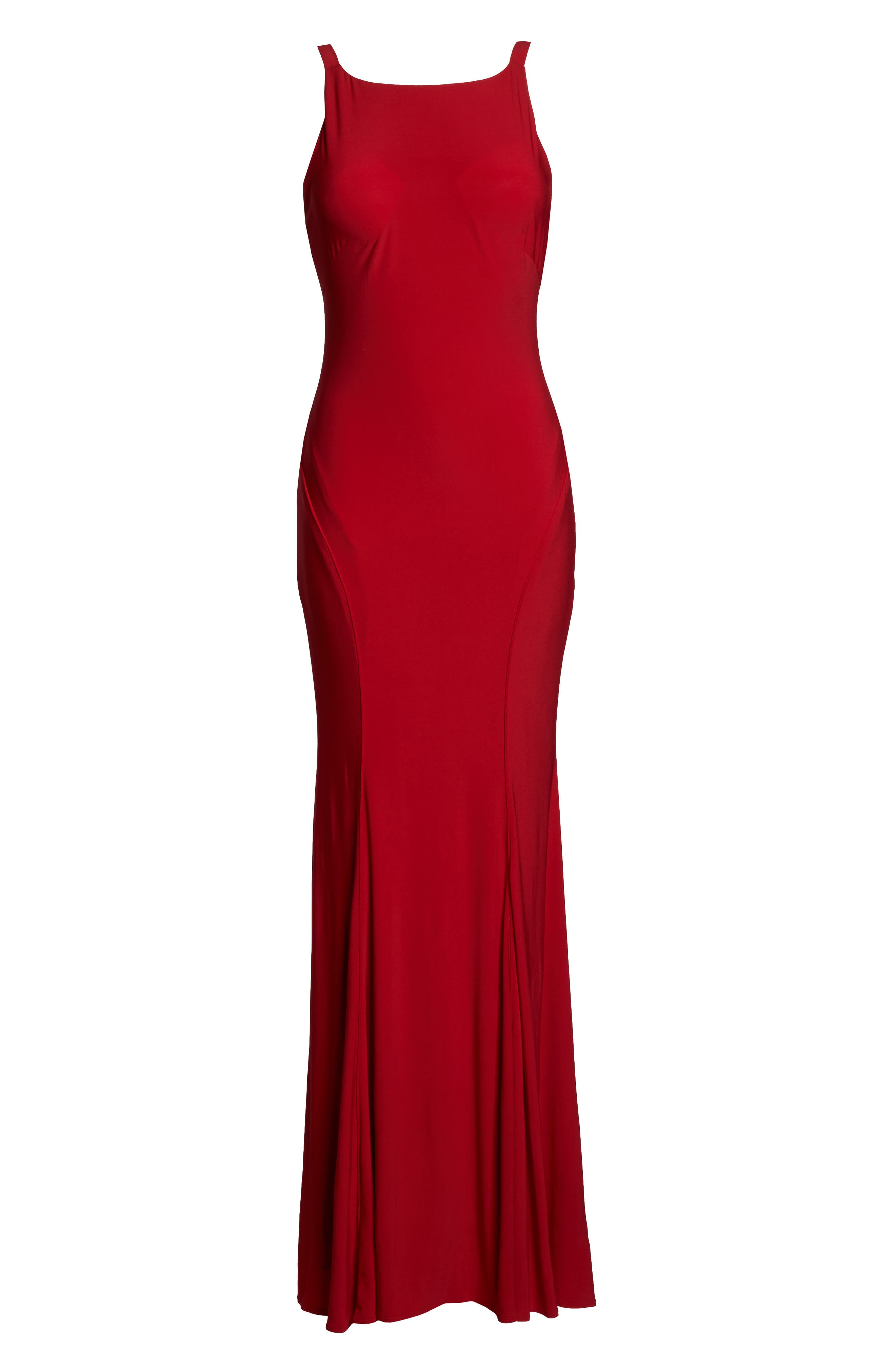 Jersey Gown,                             Alternate thumbnail 6, color,                             Red