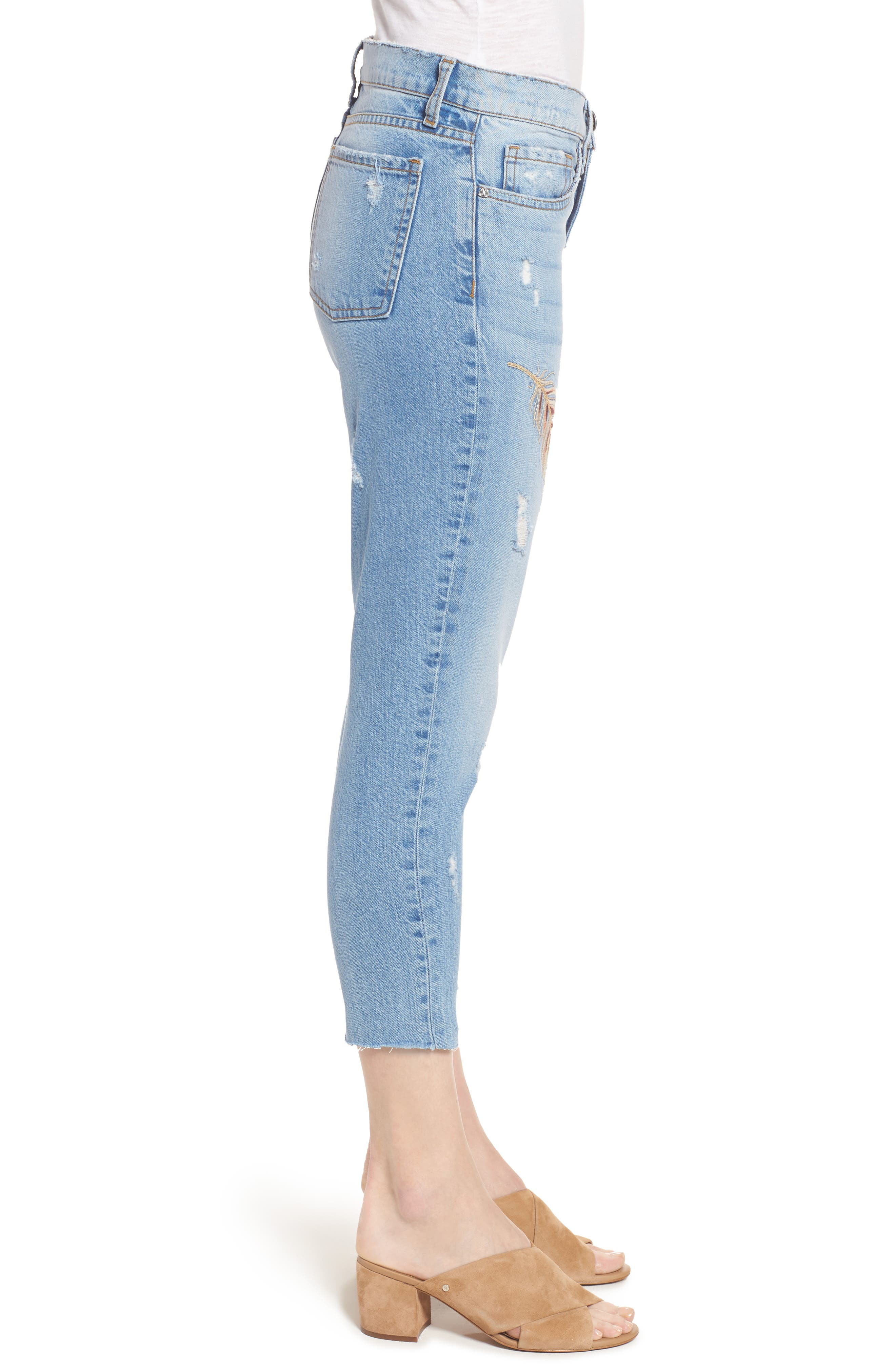 Alternate Image 3  - KUT from the Kloth Allie Crop Boyfriend Jeans (Kingly)