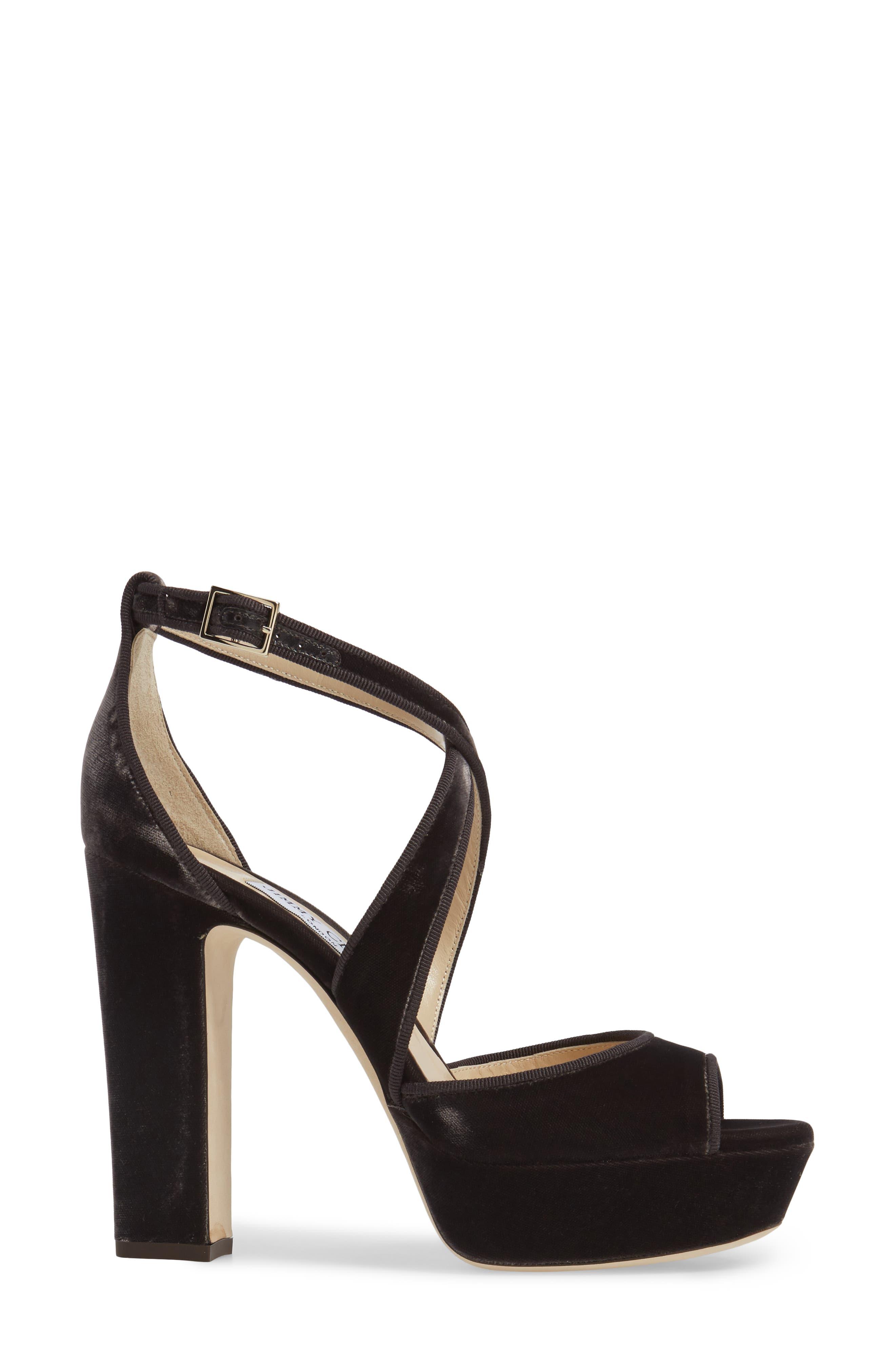 April Platform Sandal,                             Alternate thumbnail 3, color,                             Dark Mink Velvet