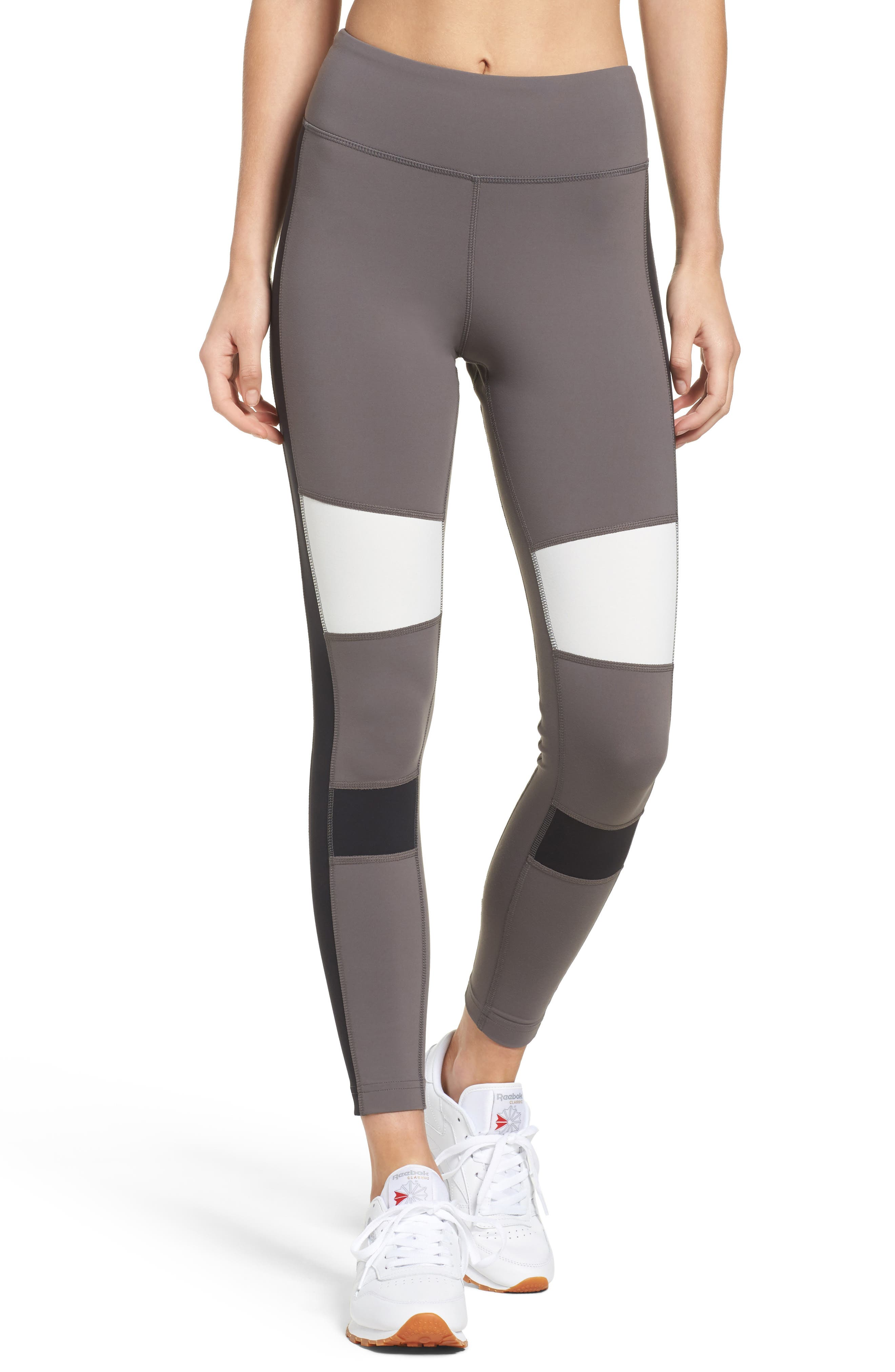 Alternate Image 1 Selected - Reebok Lux Colorblock Tights