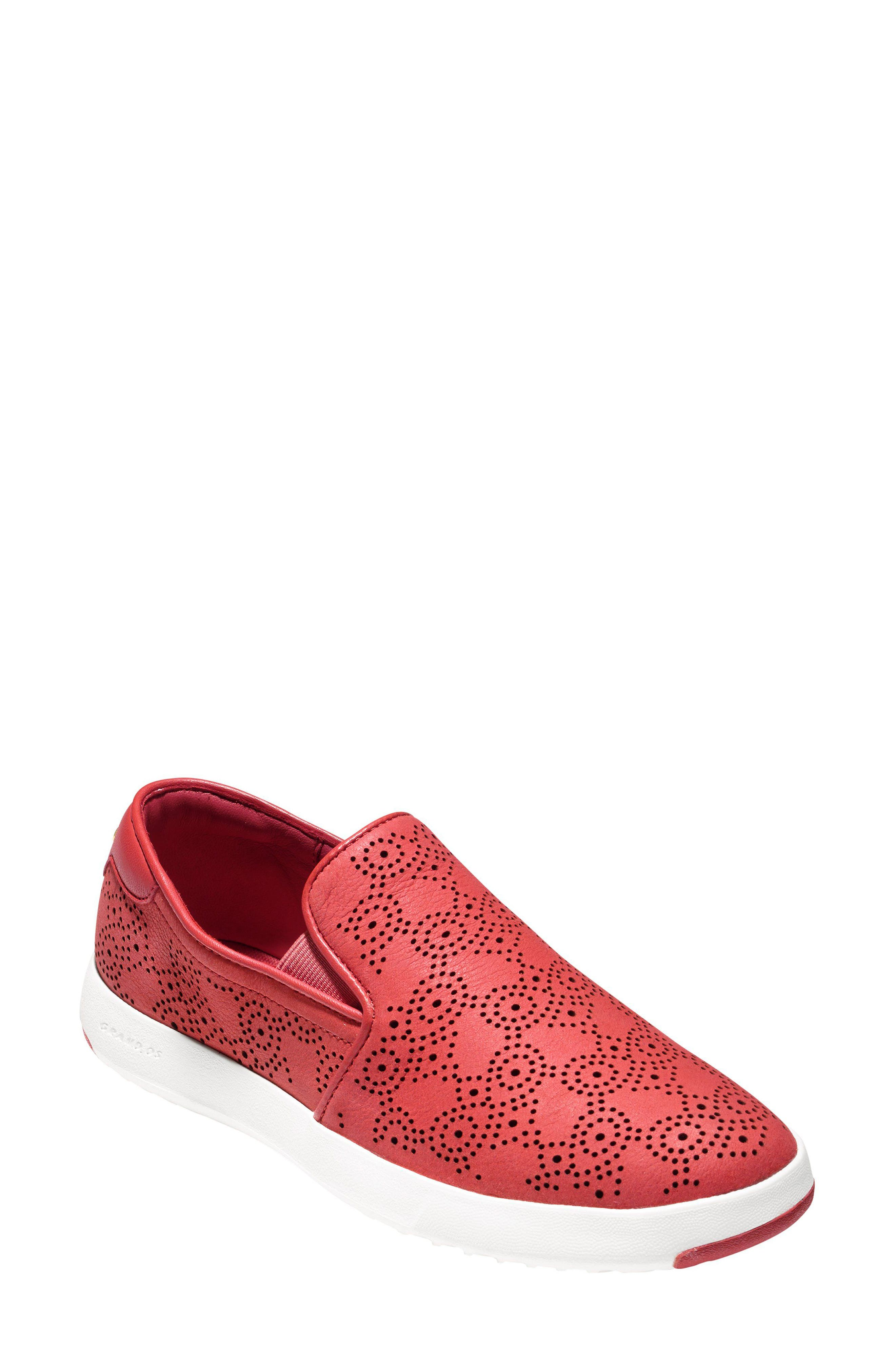 Alternate Image 1 Selected - Cole Haan GrandPro Perforated Slip-On Sneaker (Women)