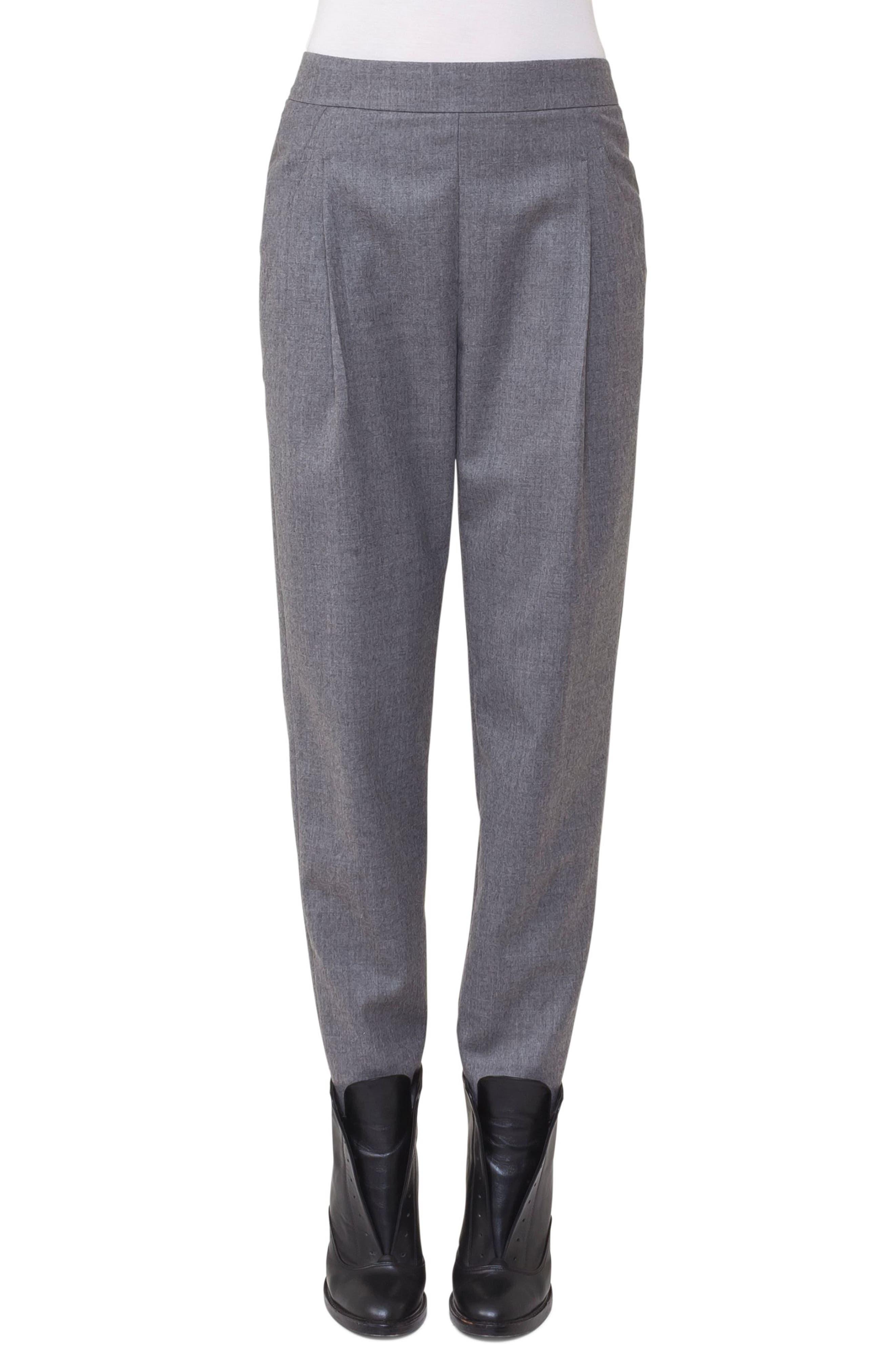 Fiola Wool Slouch Pants,                             Main thumbnail 1, color,                             Stone