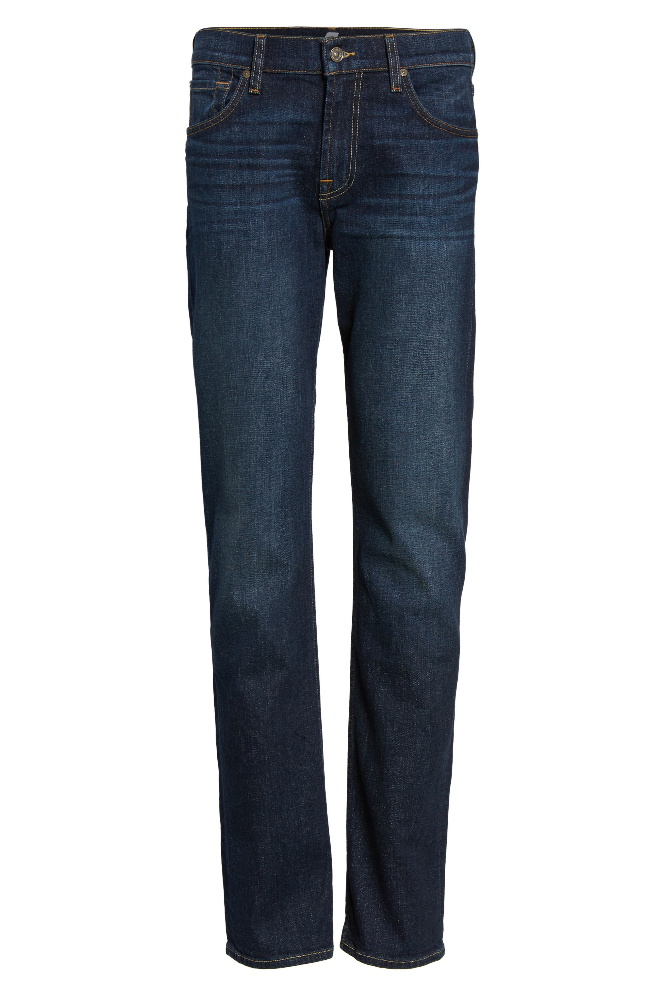 Alternate Image 6  - 7 For All Mankind® The Standard Straight Fit Jeans (Covington)