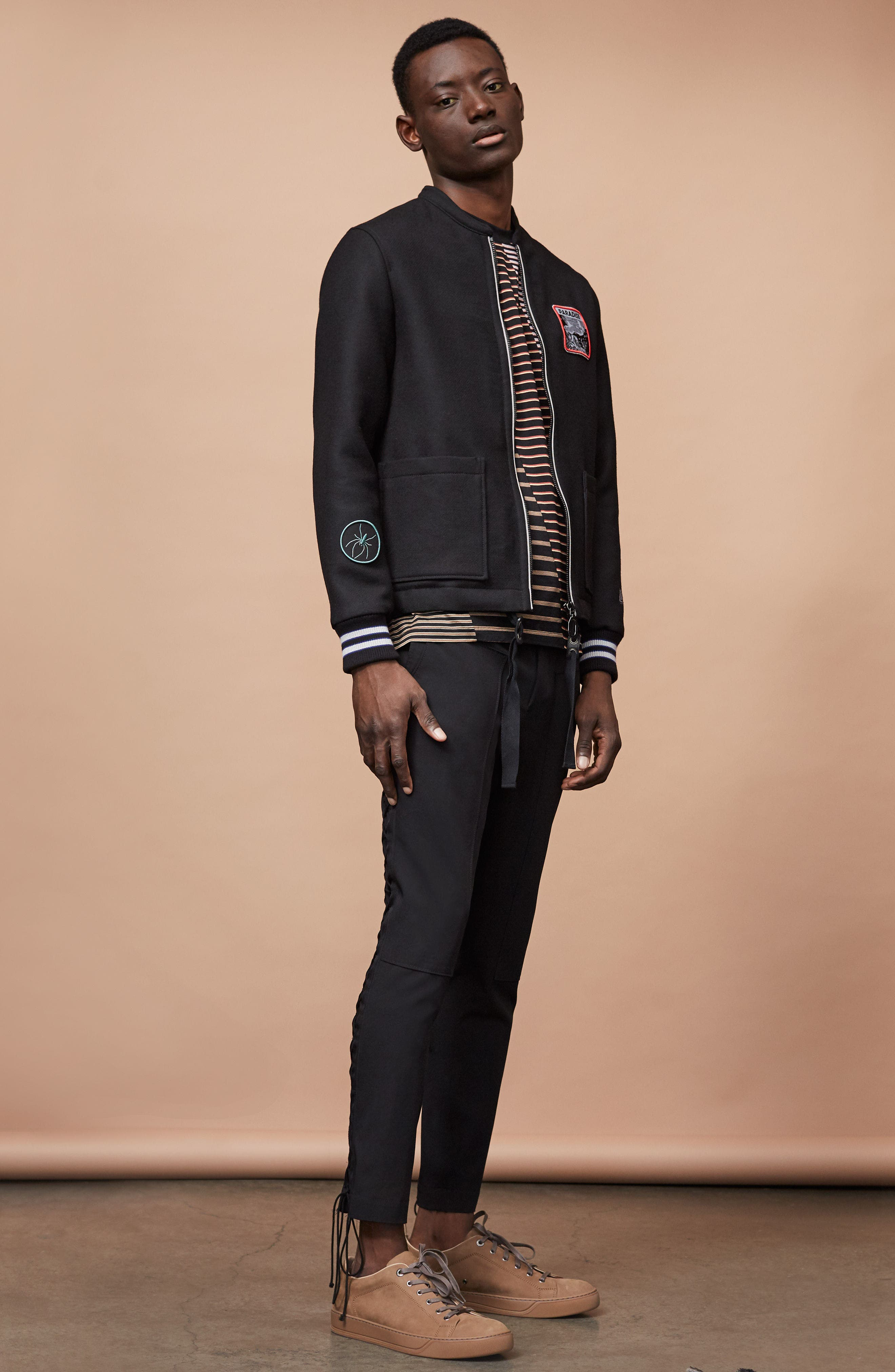 Alternate Image 7  - Lanvin Paradise Patch Bomber Jacket