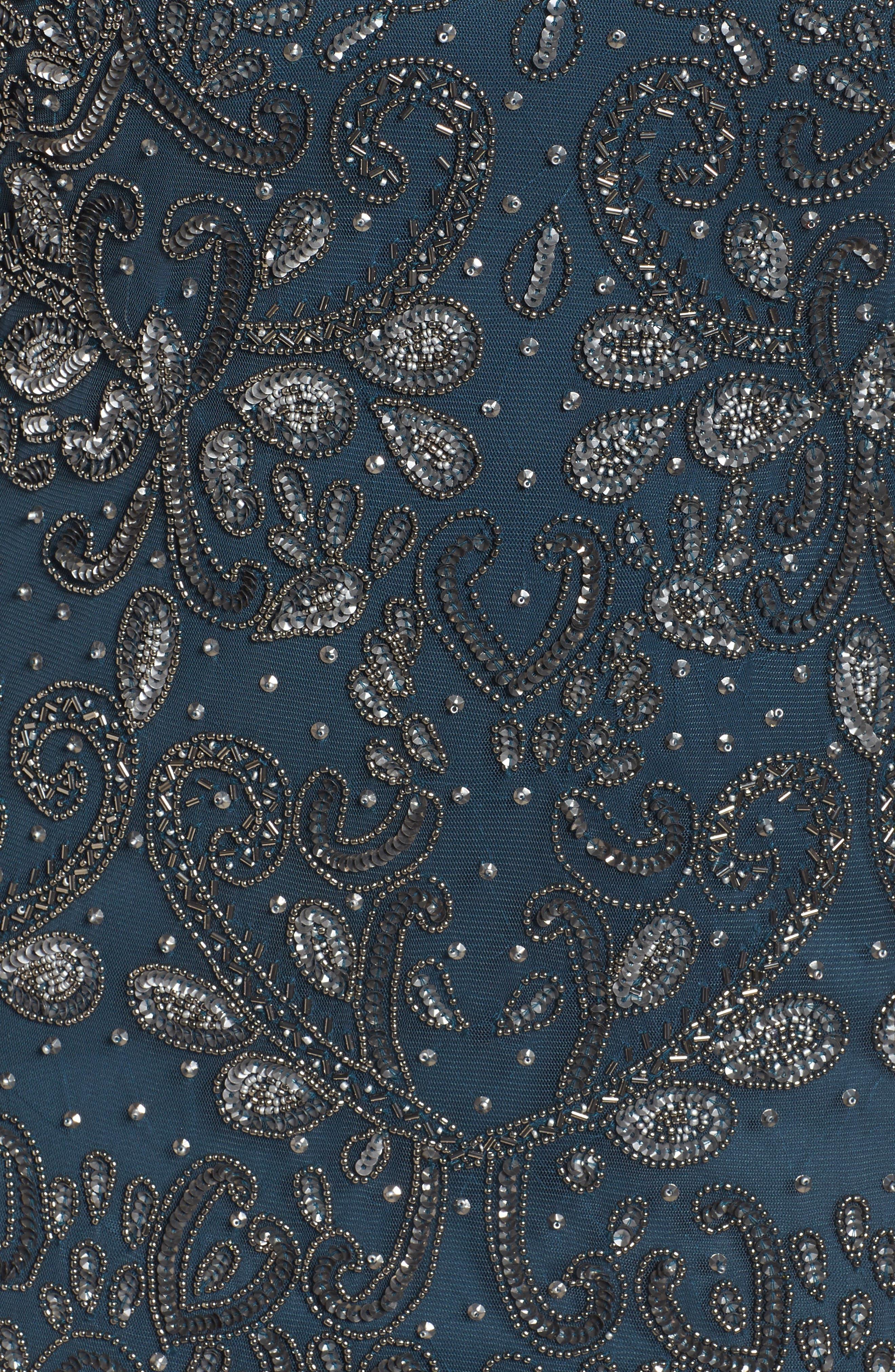 Alternate Image 5  - Pisarro Nights Embellished Cold Shoulder Dress (Plus Size)
