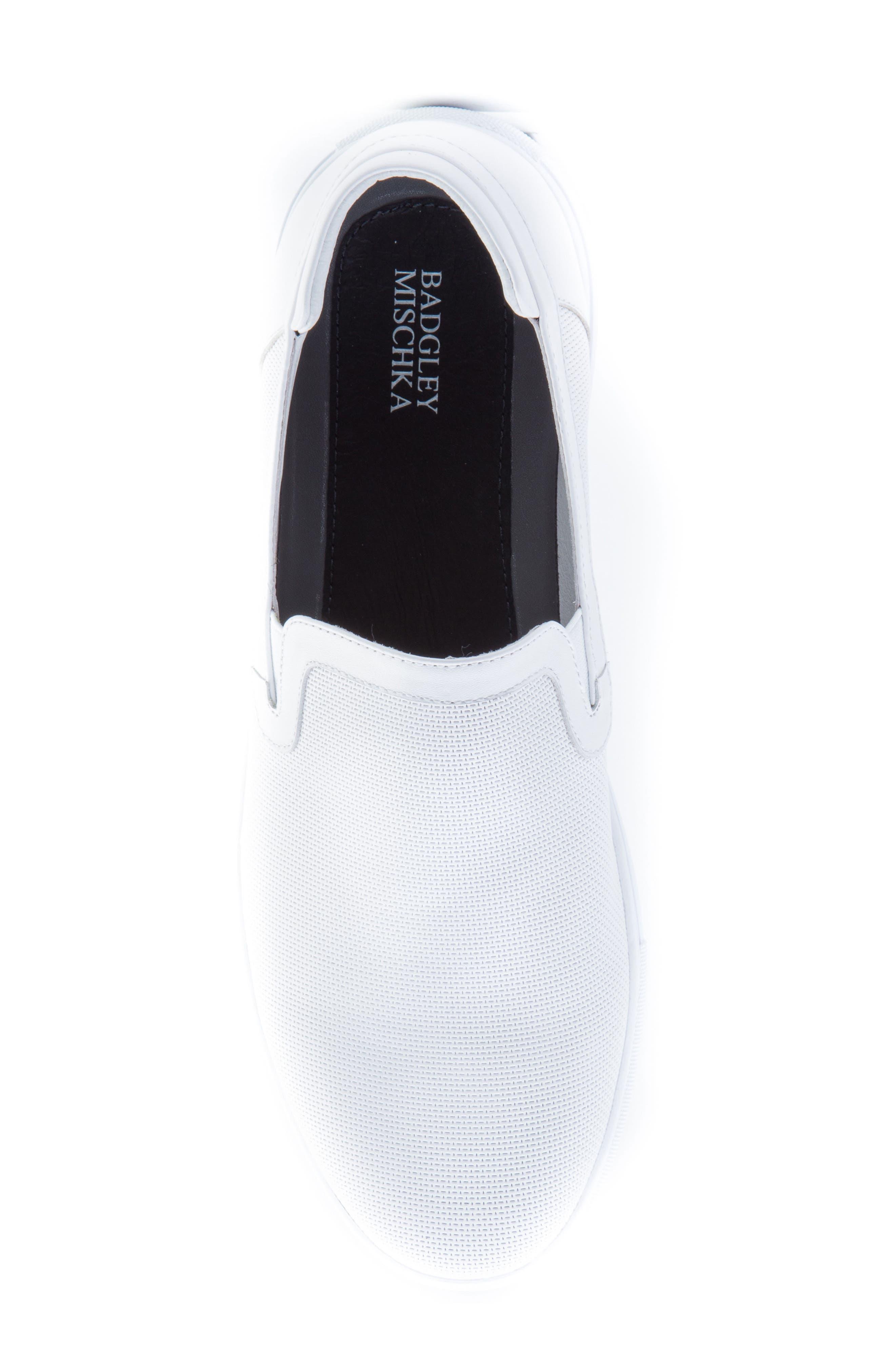 Grant Sneaker,                             Alternate thumbnail 4, color,                             White Leather