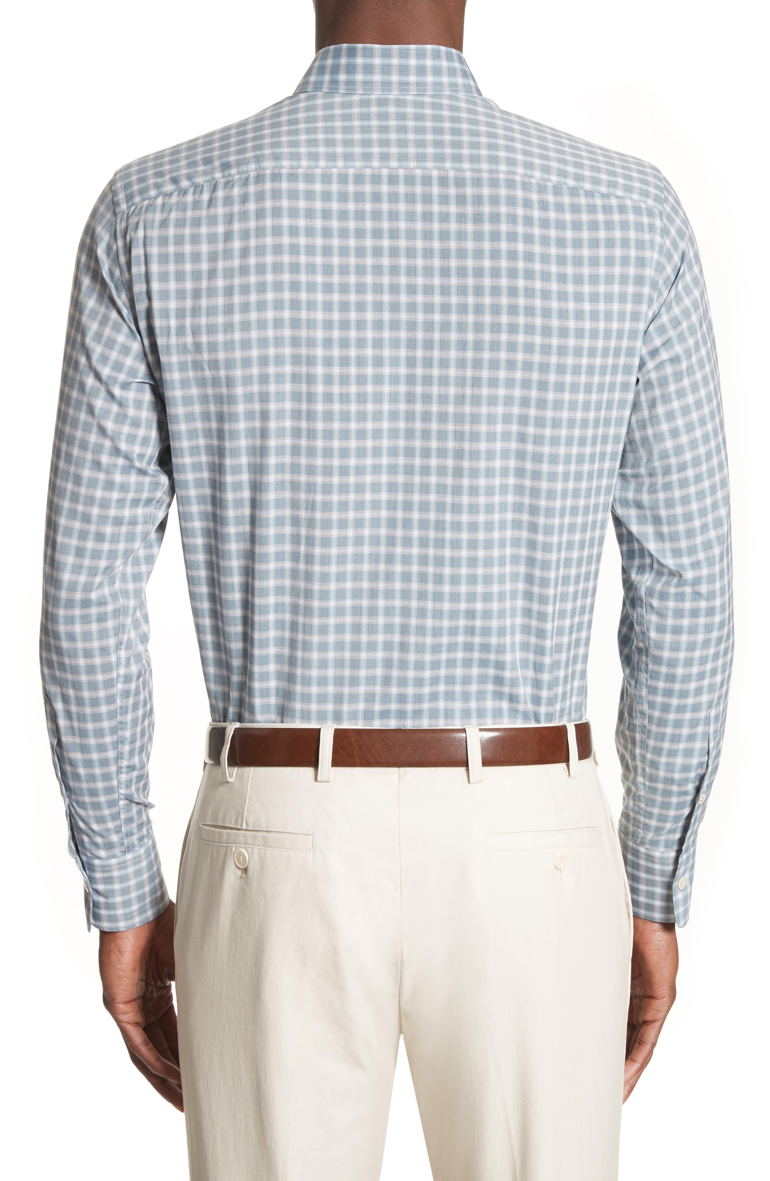 Alternate Image 2  - Canali Gradient Check Sport Shirt
