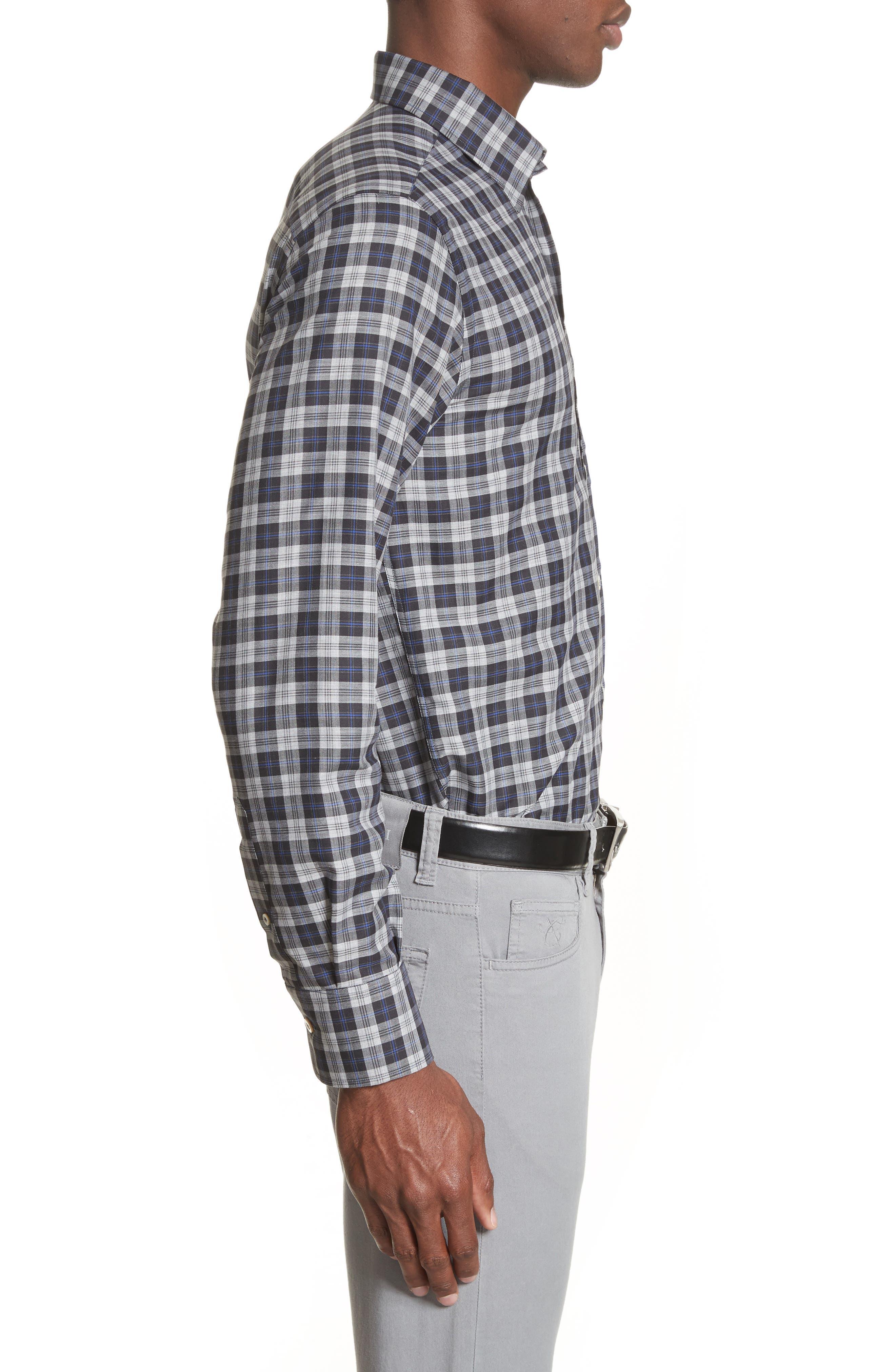 Alternate Image 3  - Canali Plaid Sport Shirt