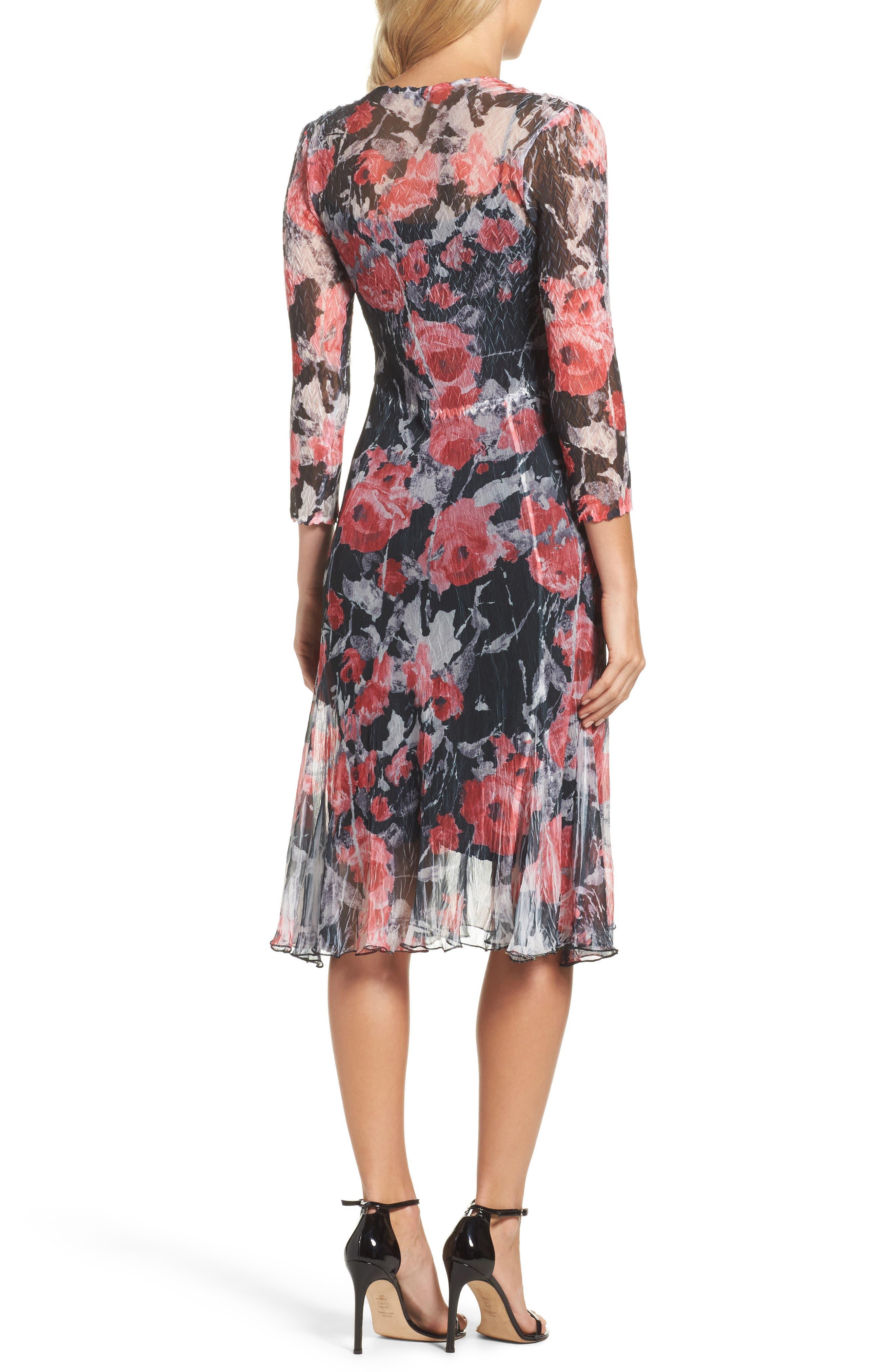 A-Line Dress,                             Alternate thumbnail 2, color,                             Strawberry Fields