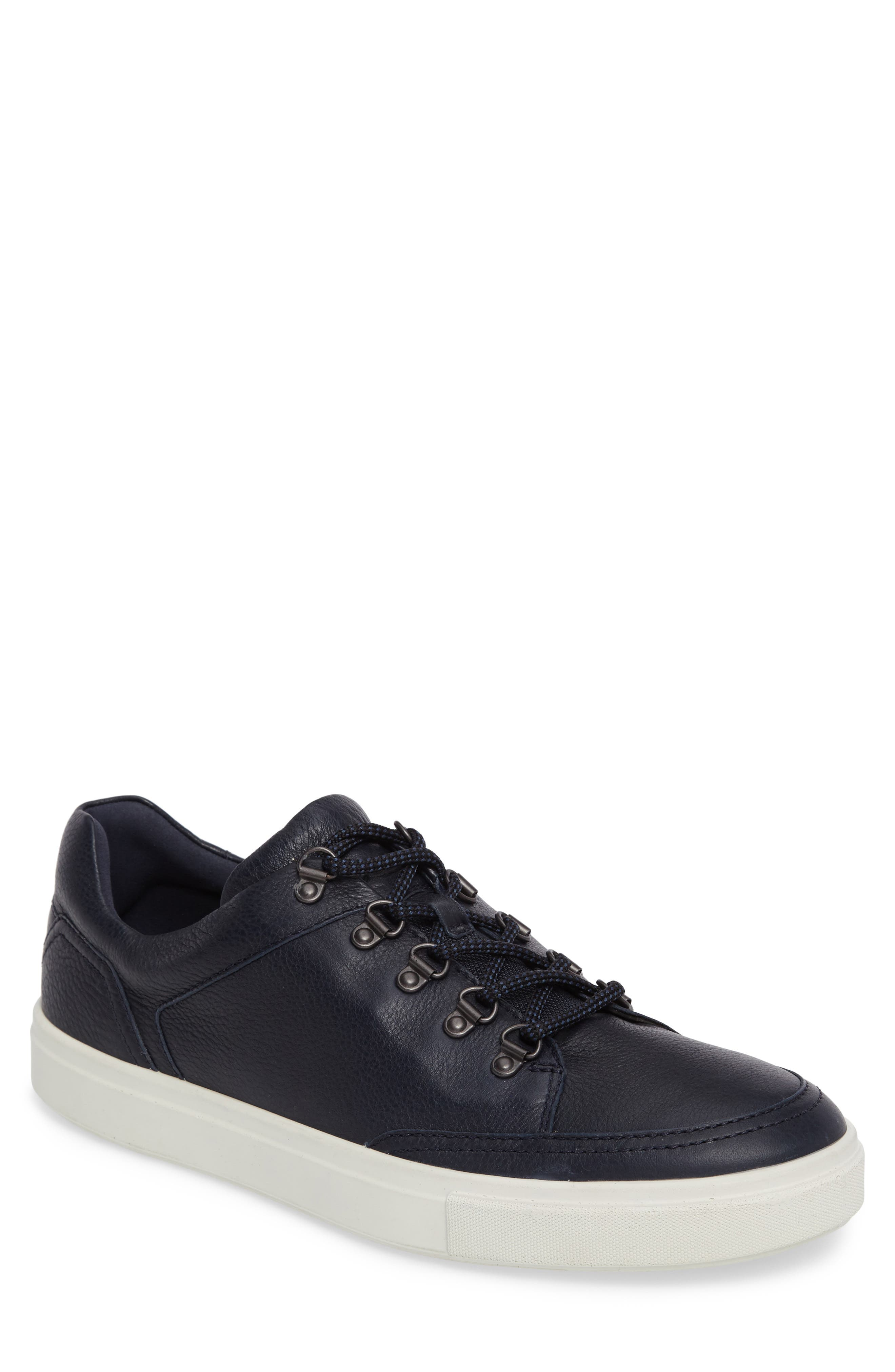 Kyle Sneaker,                         Main,                         color, Marine Leather