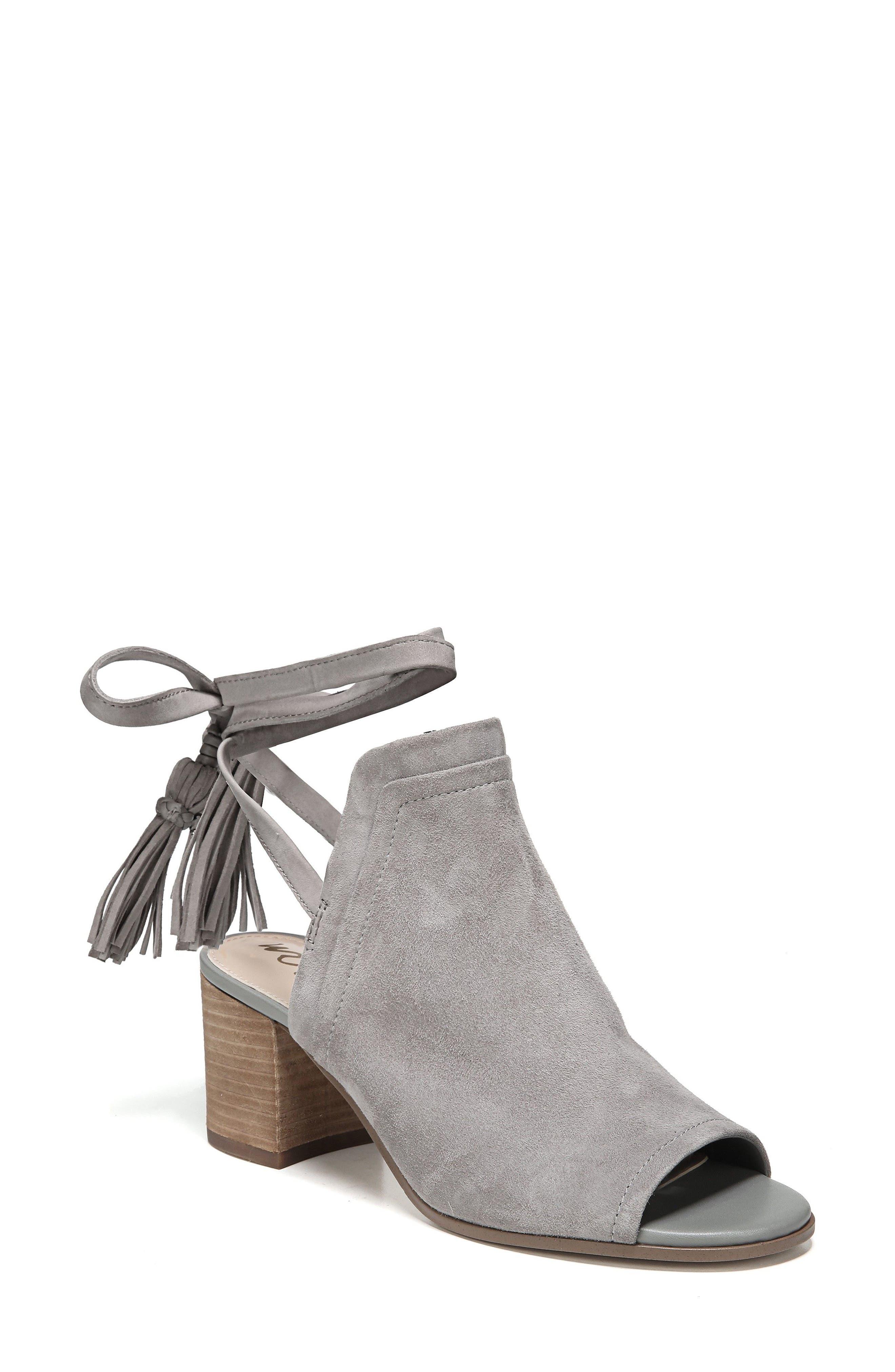 Sampson Block Heel Bootie,                         Main,                         color, Grey Frost Suede