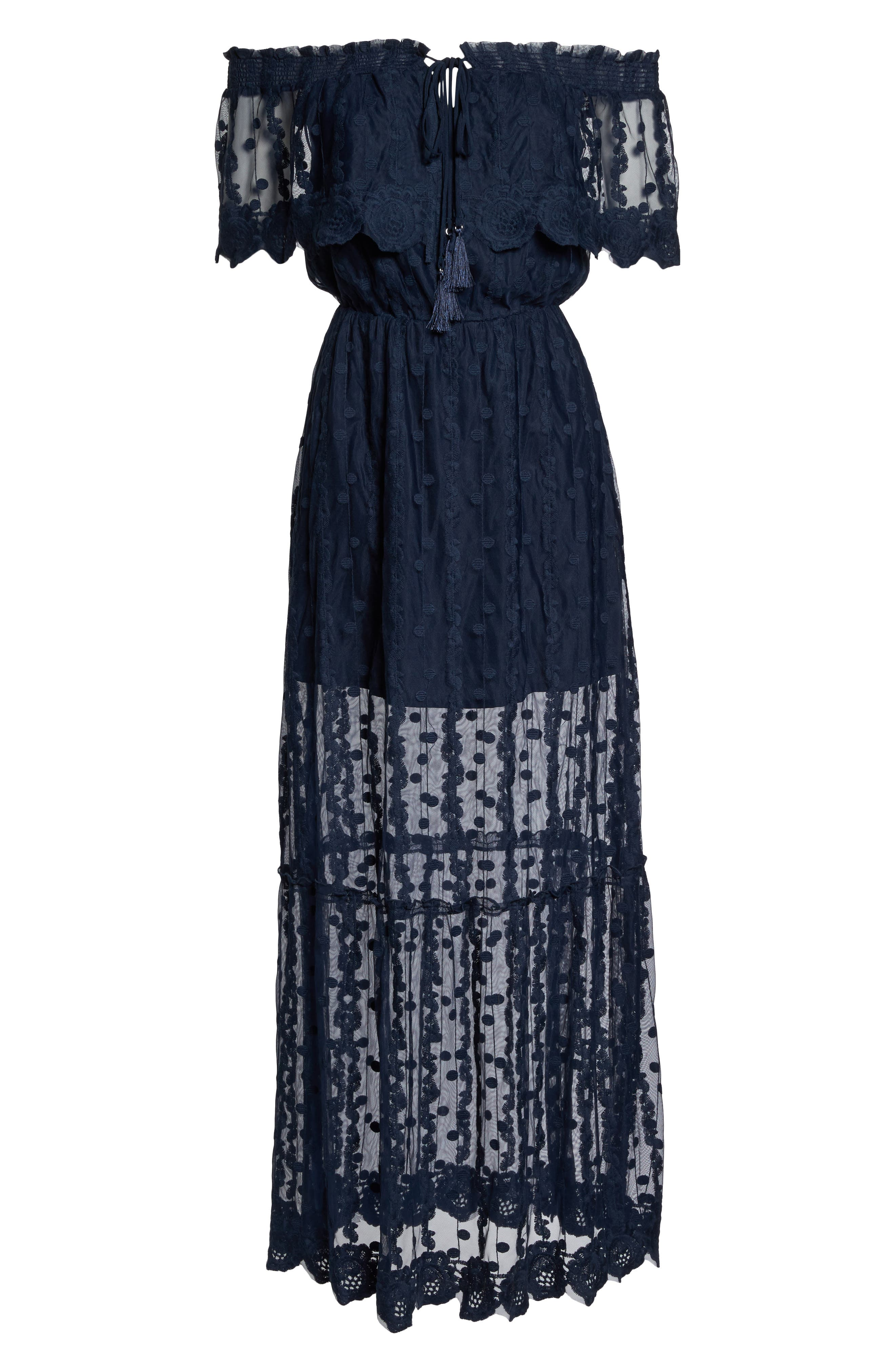 Alternate Image 6  - Adelyn Rae Josephine Off the Shoulder Lace Maxi Dress
