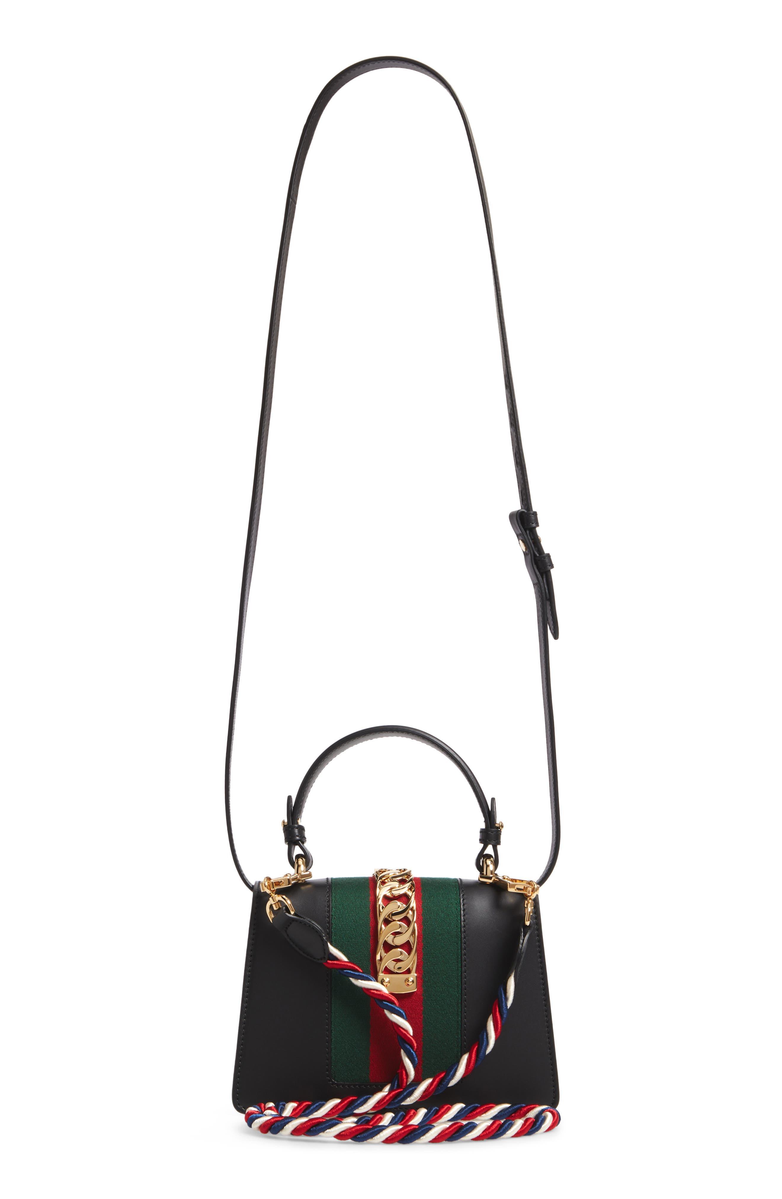 Alternate Image 5  - Gucci Mini Sylvie Top Handle Leather Shoulder Bag