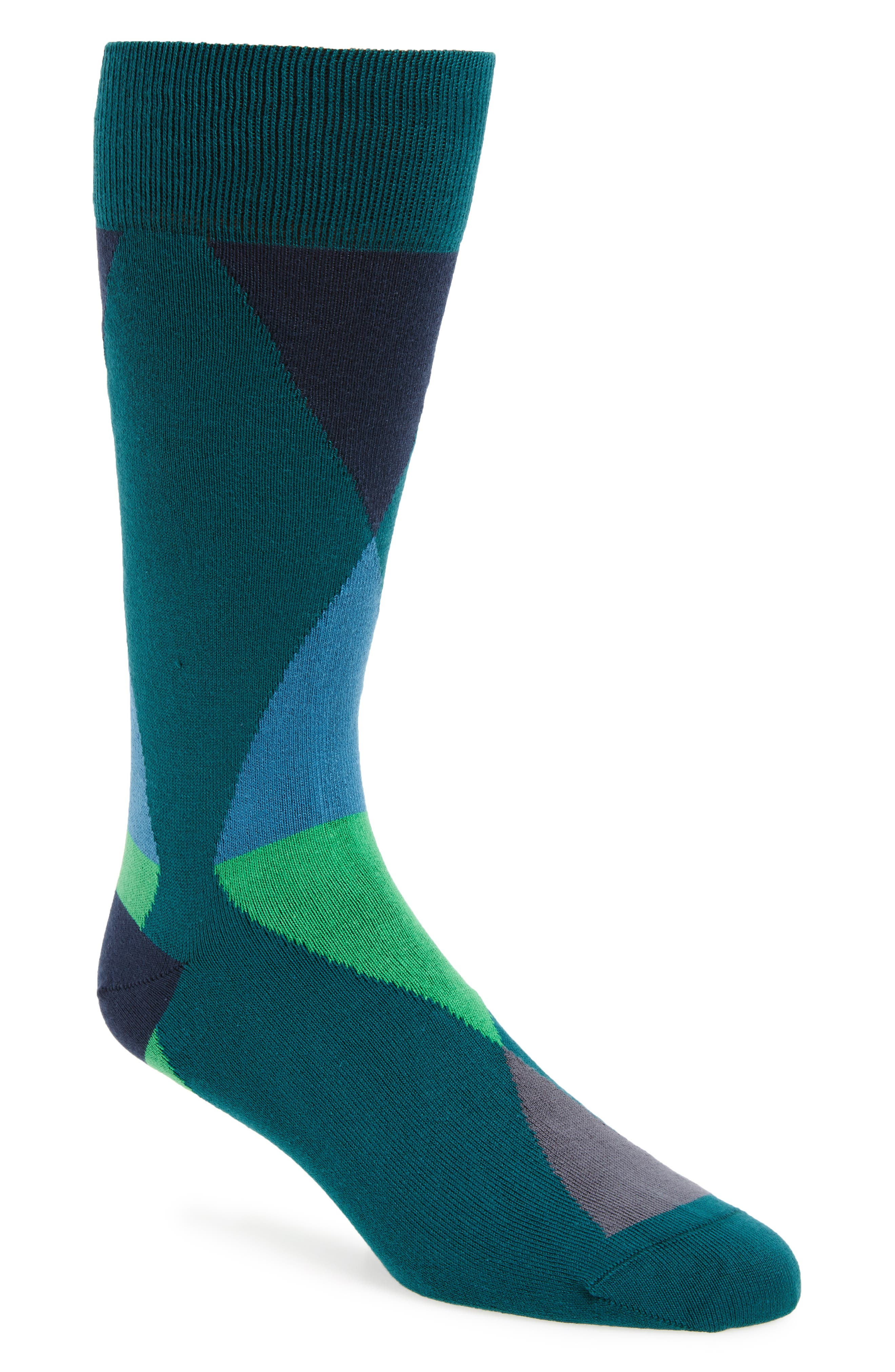 Geo Geometric Socks,                         Main,                         color, Dark Blue