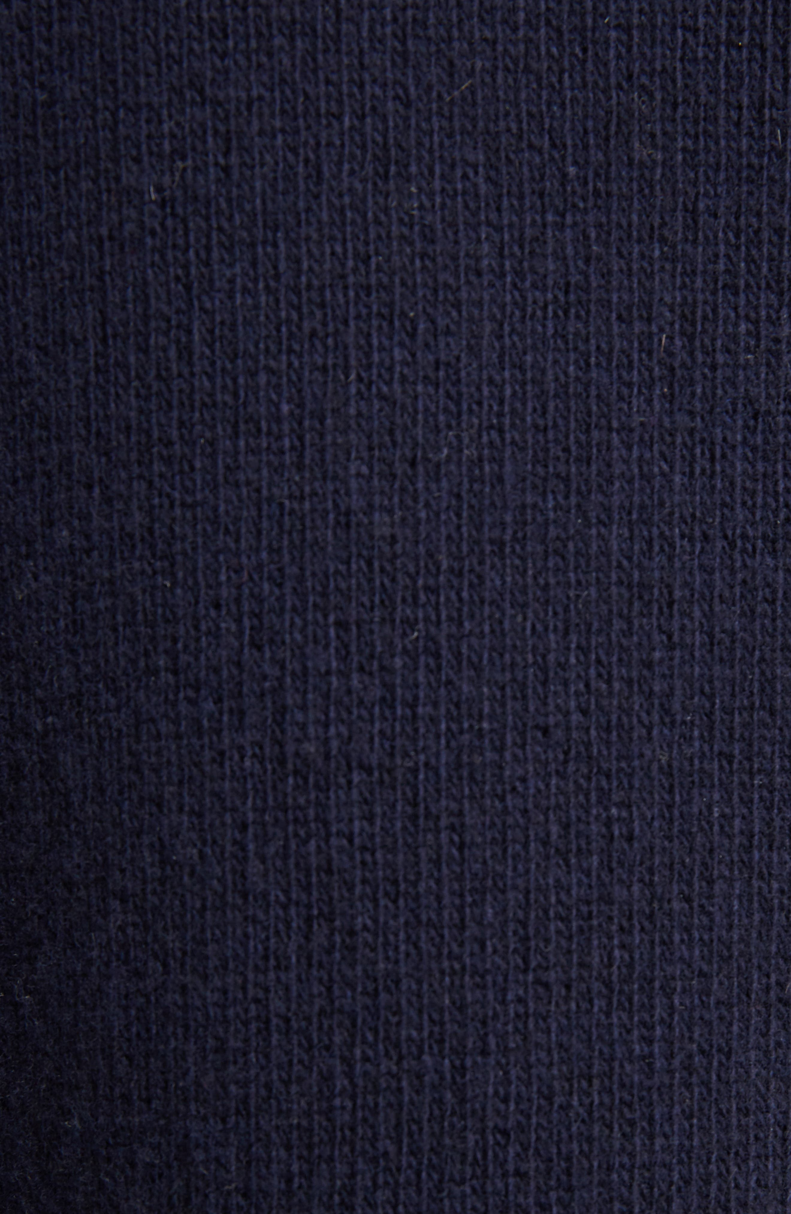 Guipure Lace Detail Wool & Cashmere Sweater,                             Alternate thumbnail 5, color,                             Iconic Navy