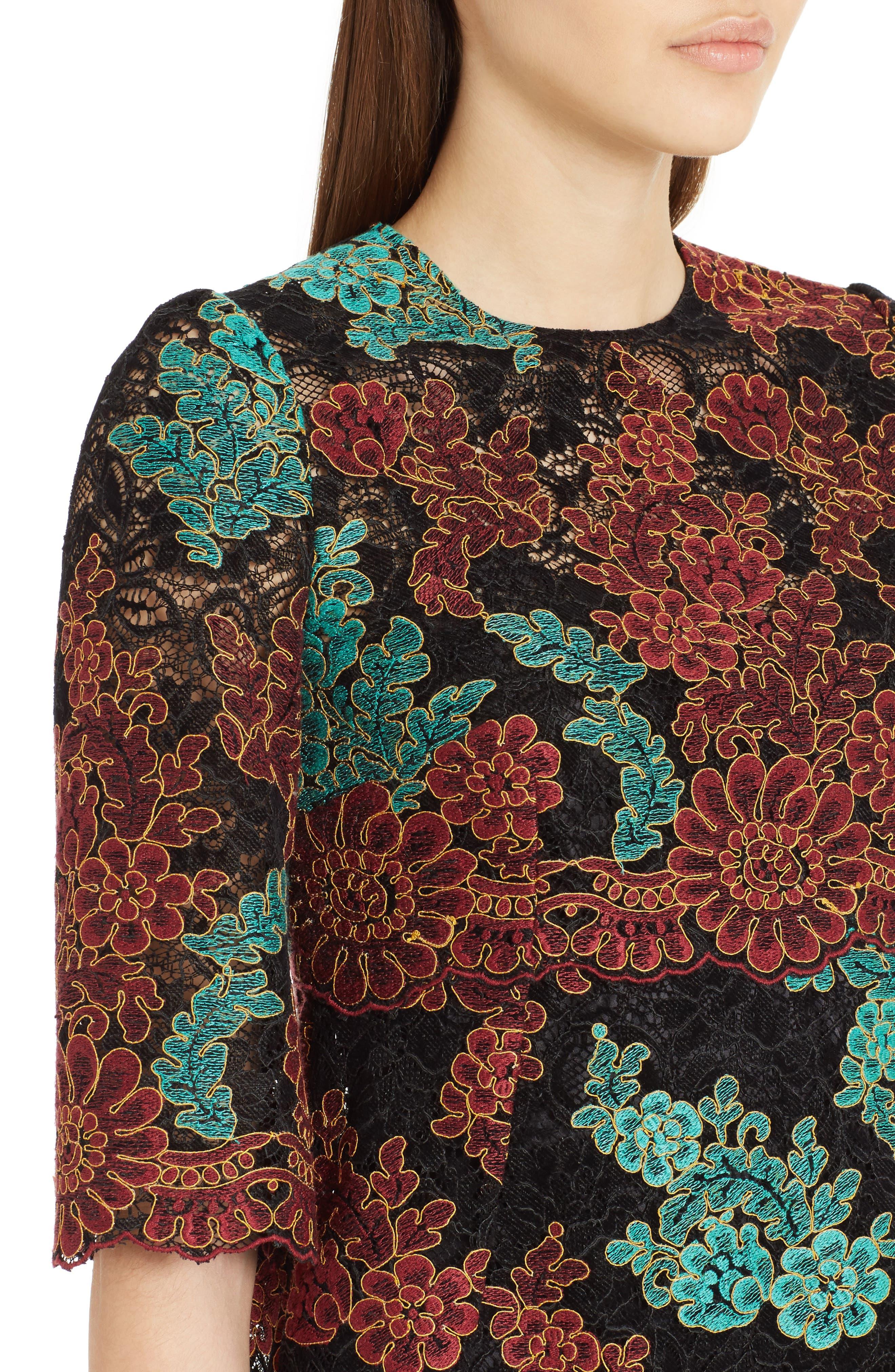 Lace Minidress,                             Alternate thumbnail 4, color,                             Burgundy