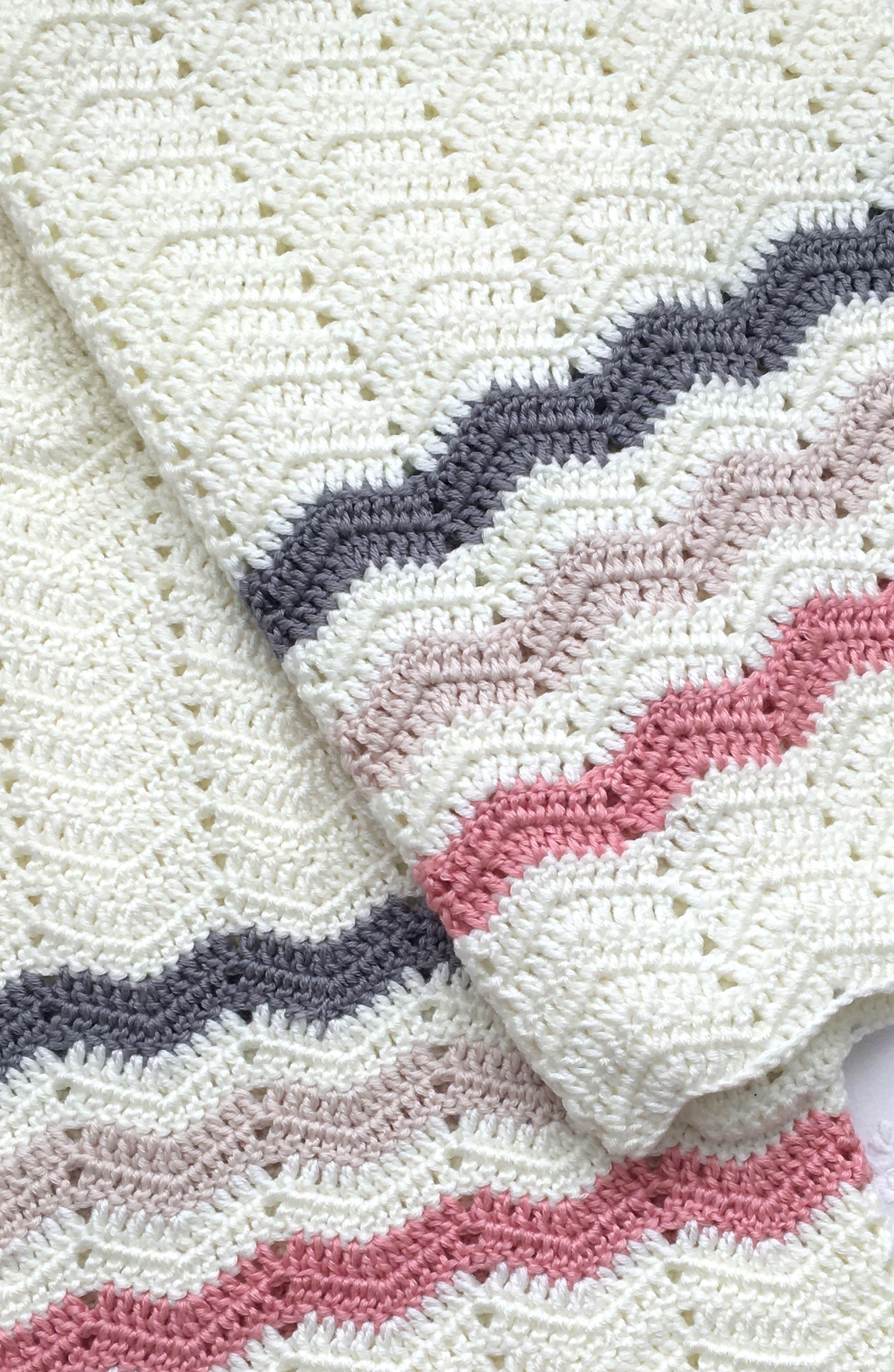 O.B. Designs Ripple Crocheted Blanket (Baby)