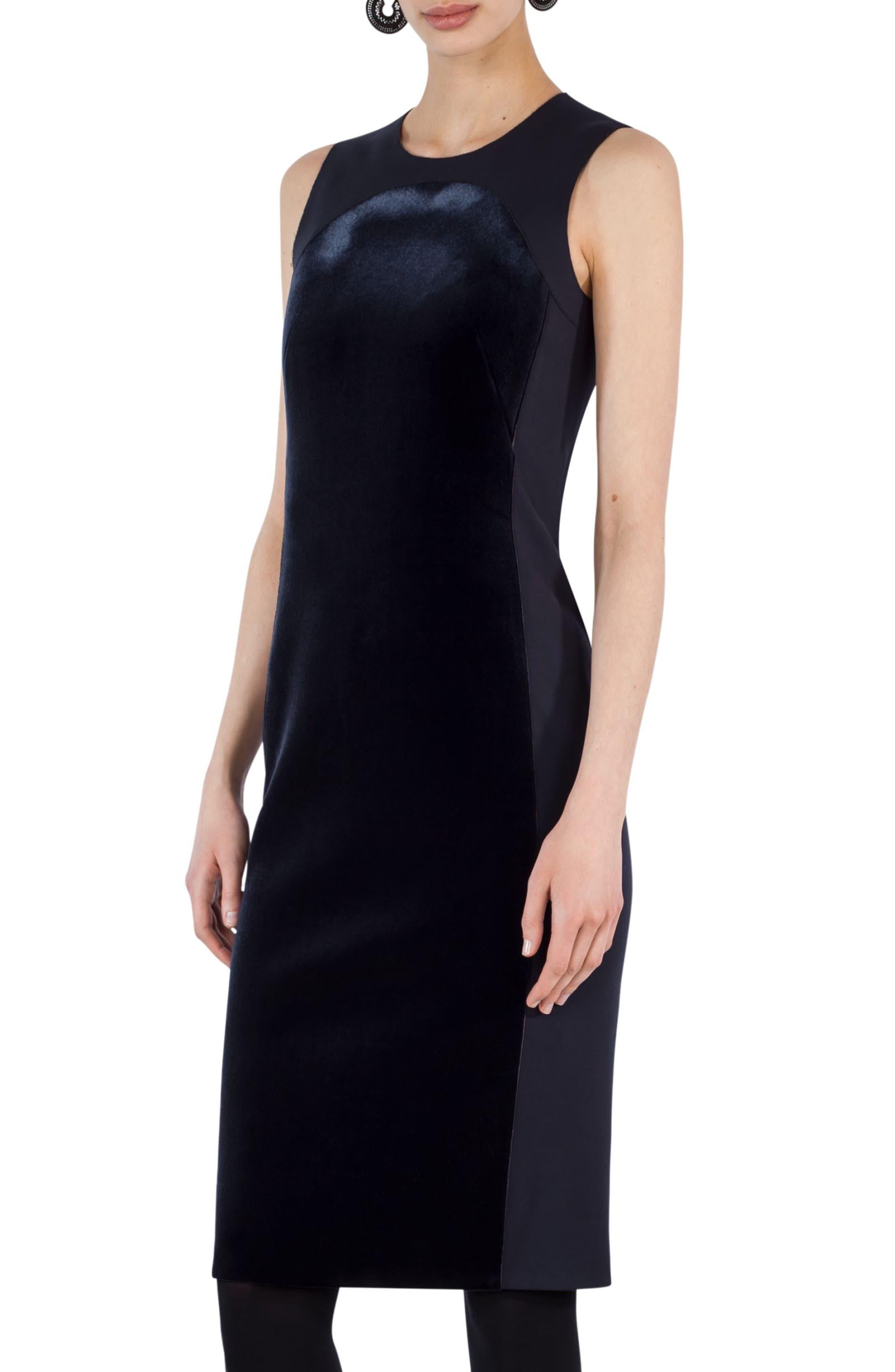 Alternate Image 3  - Akris punto Velvet Front Shift Dress