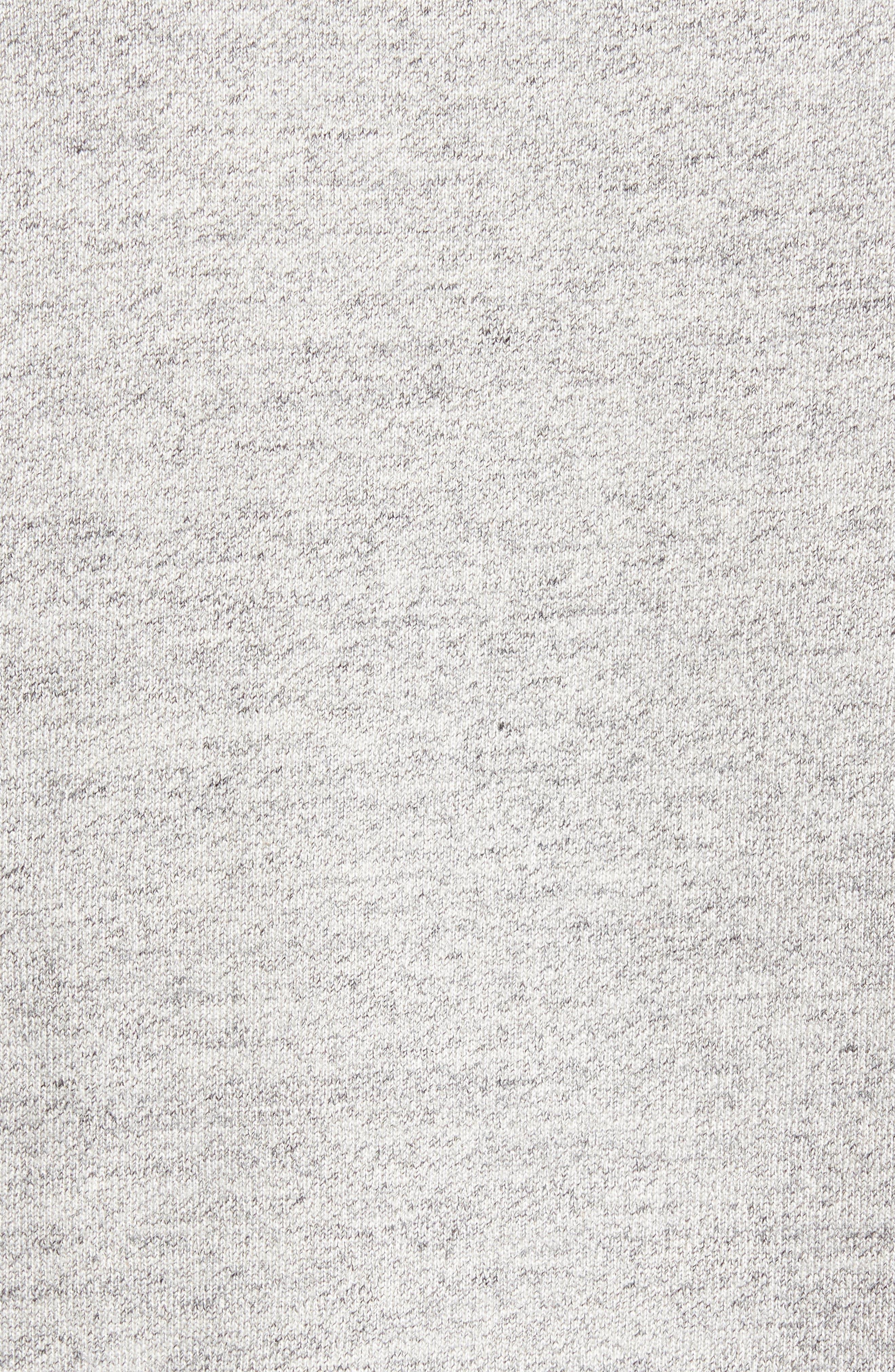 Sportswear Wings Fleece Bomber Jacket,                             Alternate thumbnail 5, color,                             Dark Grey Heather/ Black