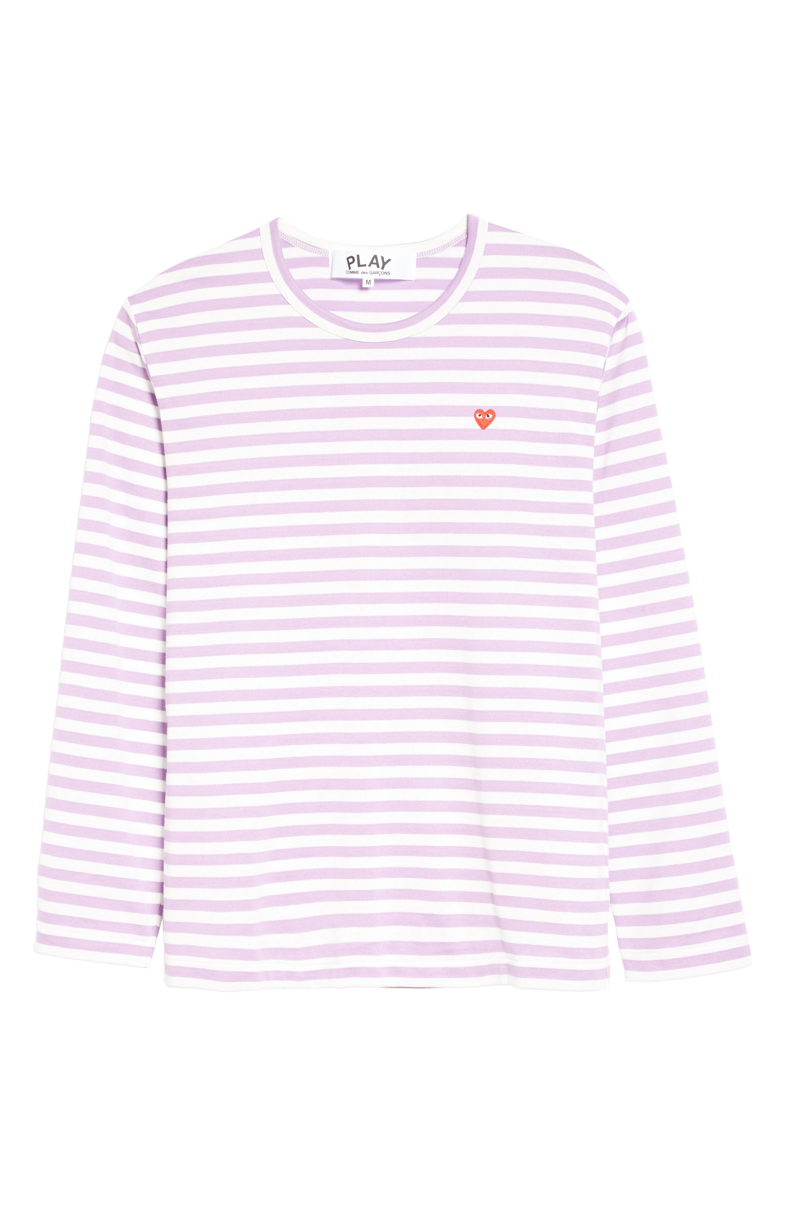 Alternate Image 7  - Comme des Garçons PLAY Long Sleeve Stripe Crewneck T-Shirt